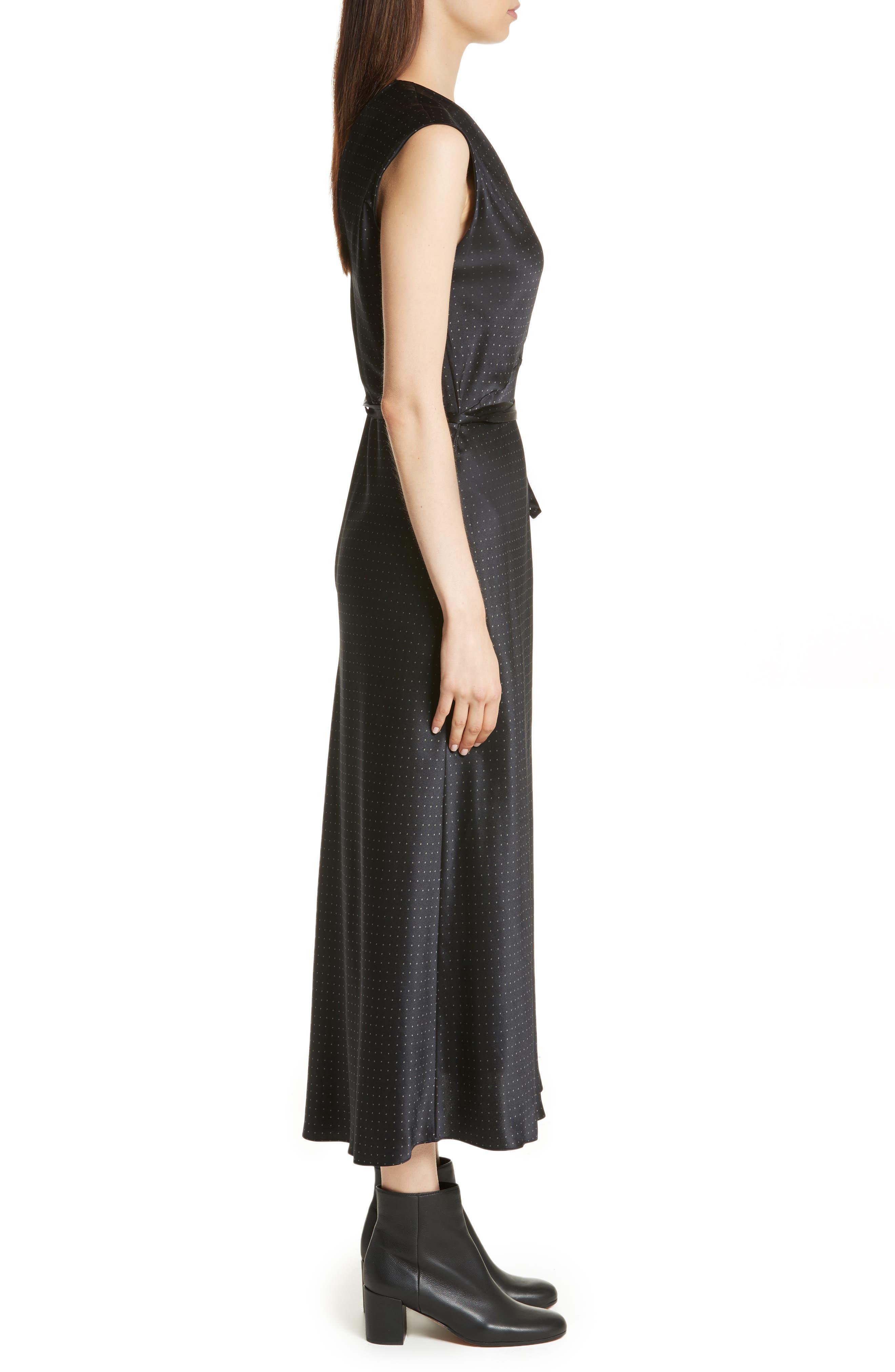Alternate Image 3  - Vince Vintage Polka Dot Faux Wrap Silk Dress