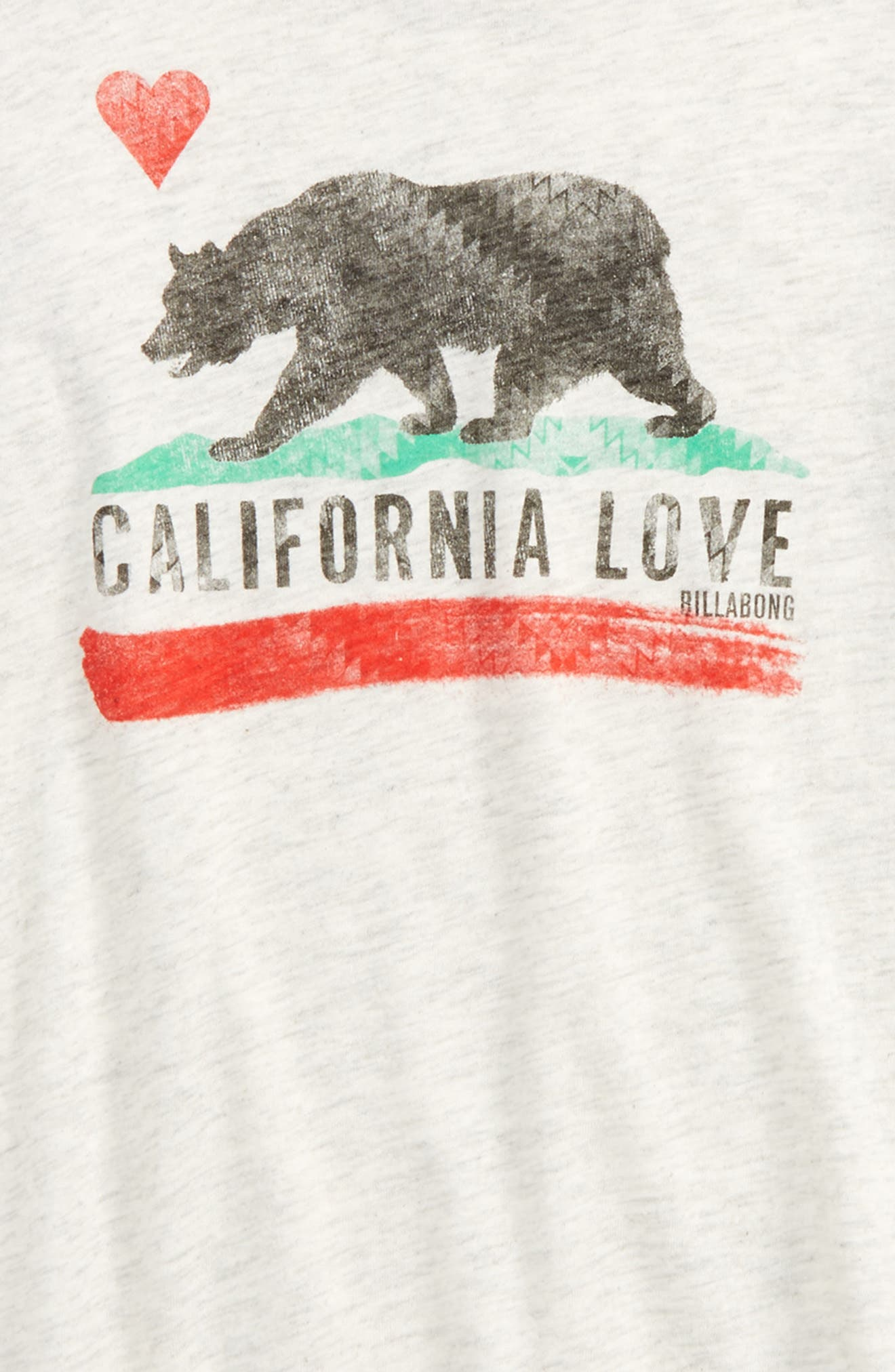 Cali Bear Original Graphic Tee,                             Alternate thumbnail 2, color,                             Ice Athletic Grey