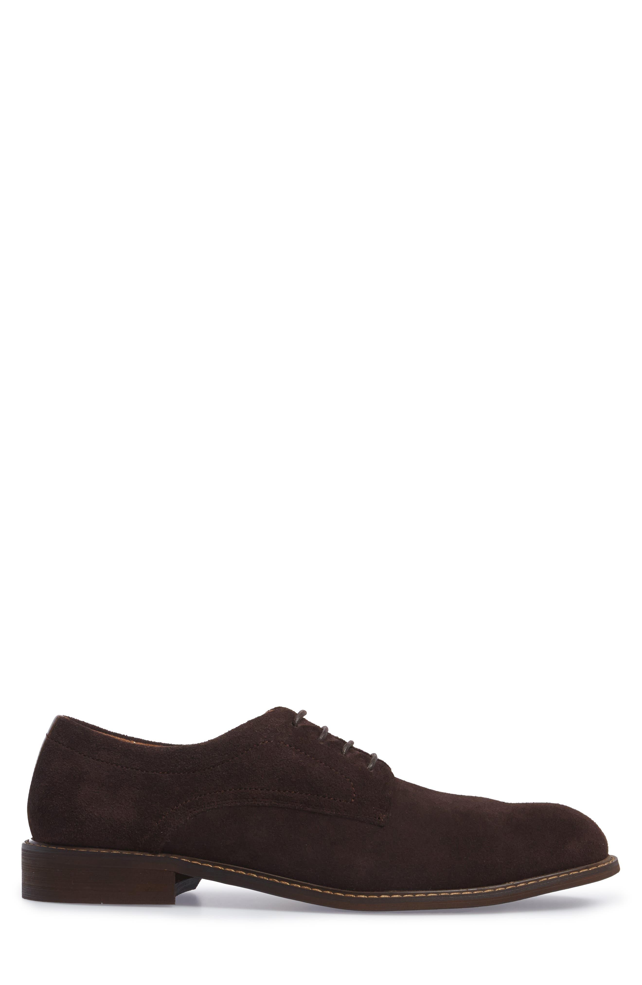 Buck Shoe,                             Alternate thumbnail 3, color,                             Chocolate Suede