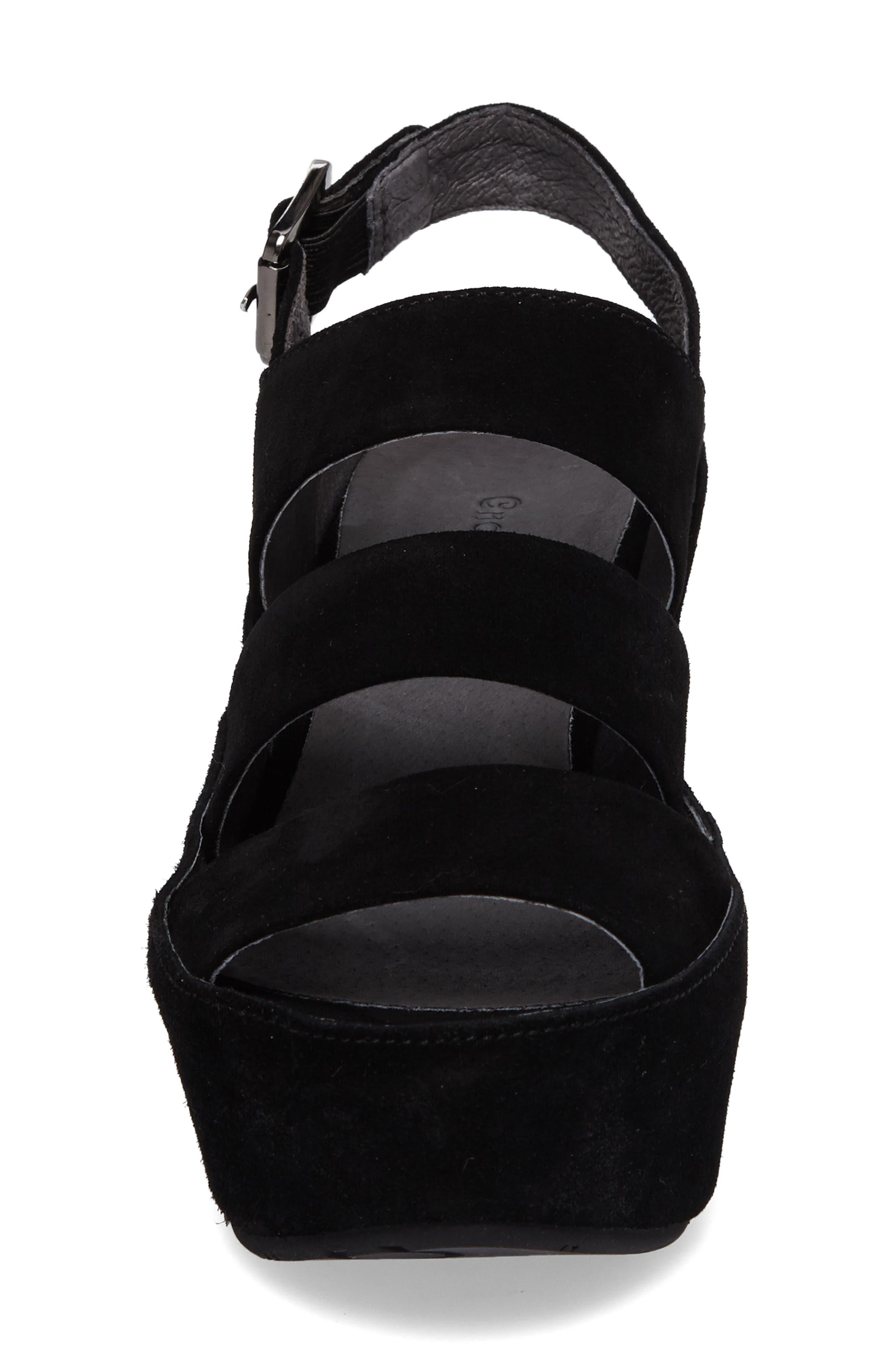 Alternate Image 4  - Chocolat Blu Windsor Platform Wedge Sandal (Women)
