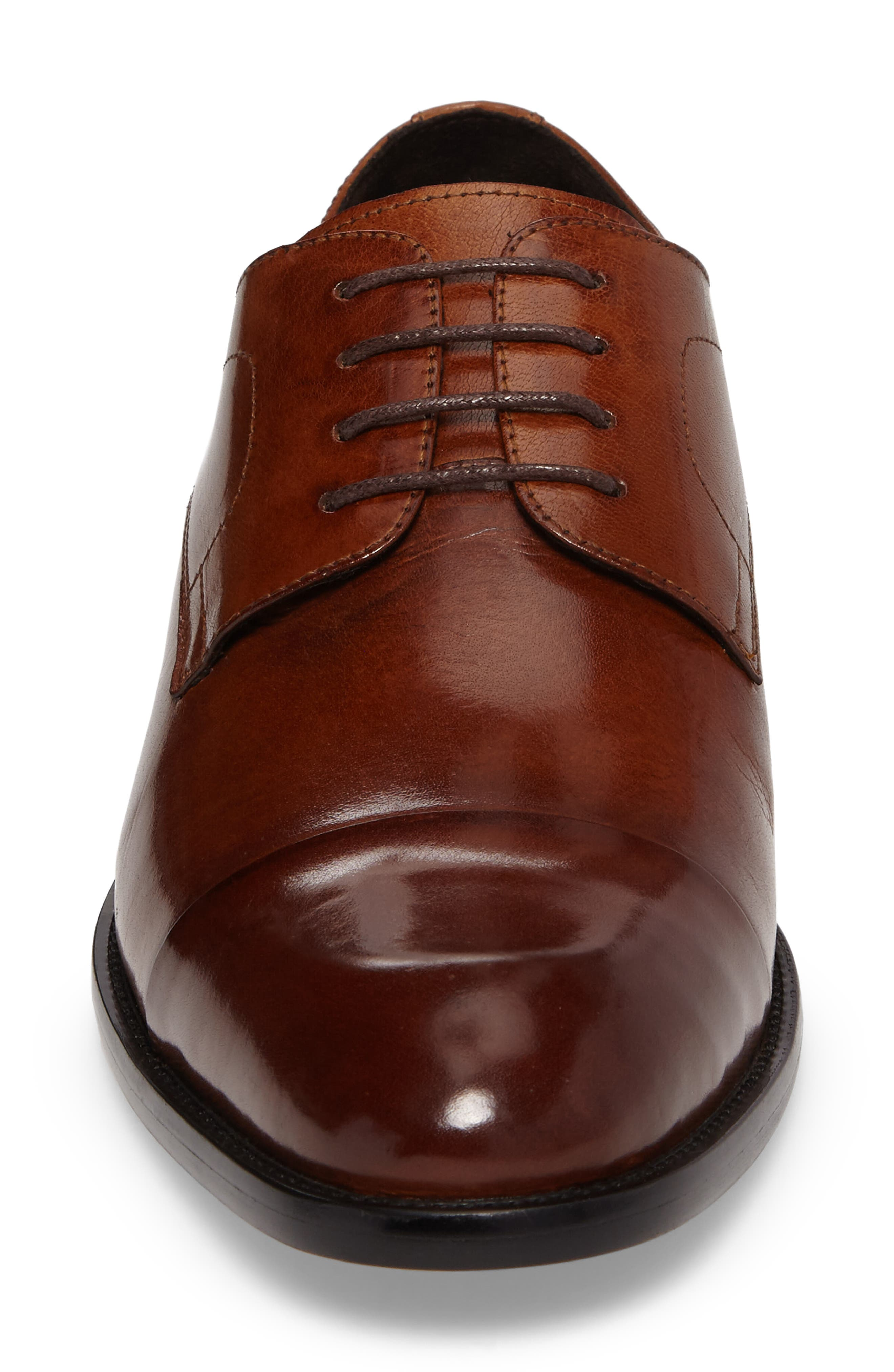 Cap Toe Derby,                             Alternate thumbnail 4, color,                             Brandy Leather