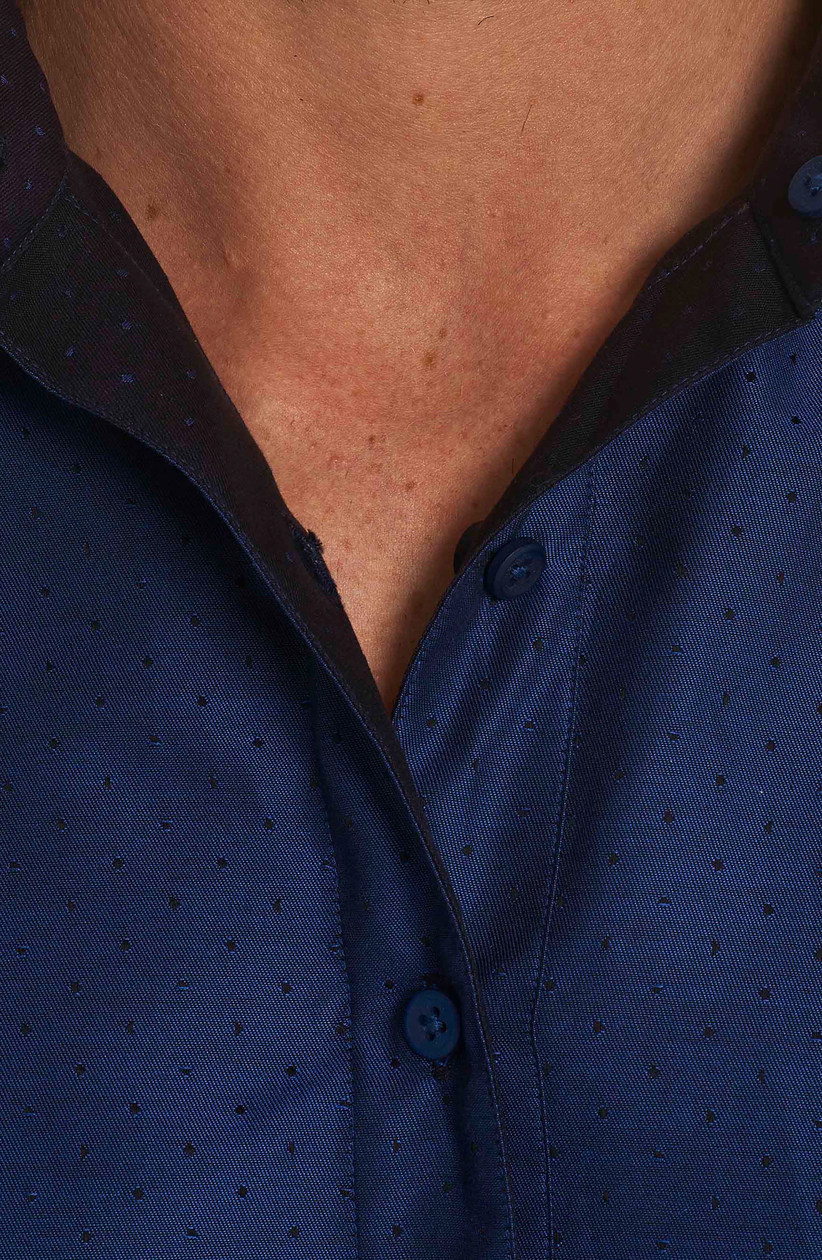 Spruce Classic Fit Sport Shirt,                             Alternate thumbnail 3, color,                             Navy