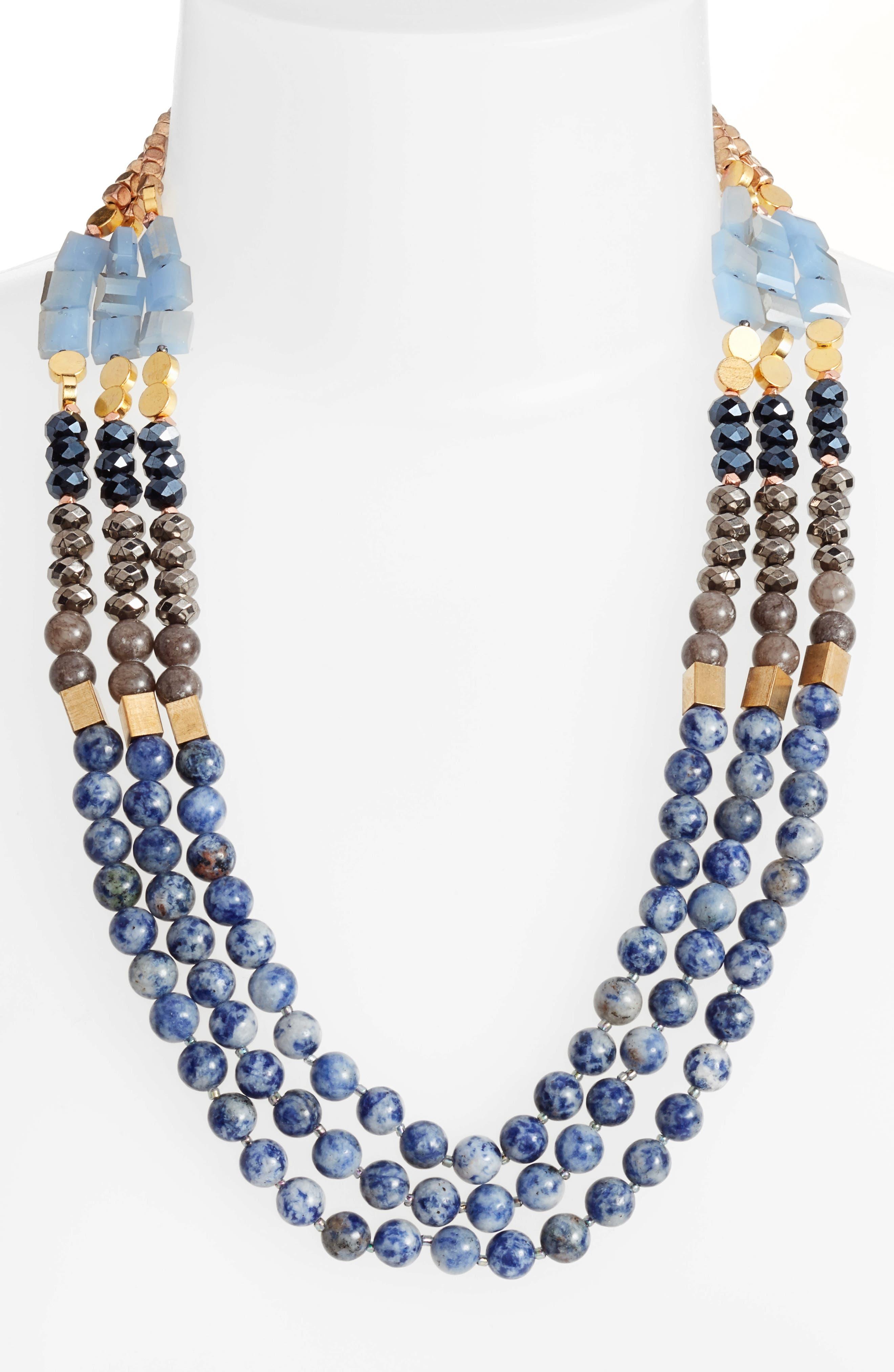Nakamol Design 3-Strand Short Necklace