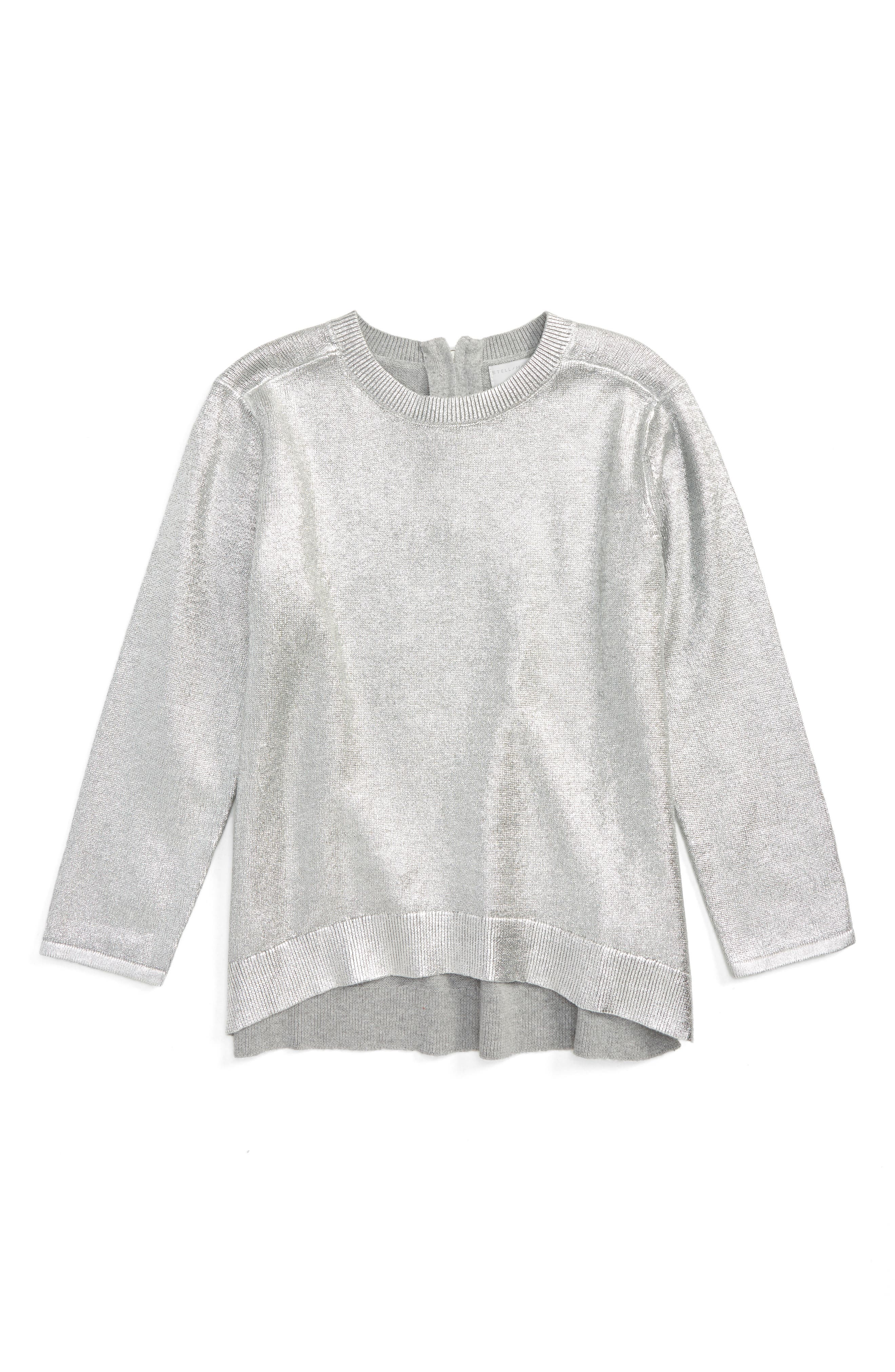 Main Image - Stella McCartney Kids Jewel Foil Sweater (Toddler Girls, Little Girls & Big Girls)