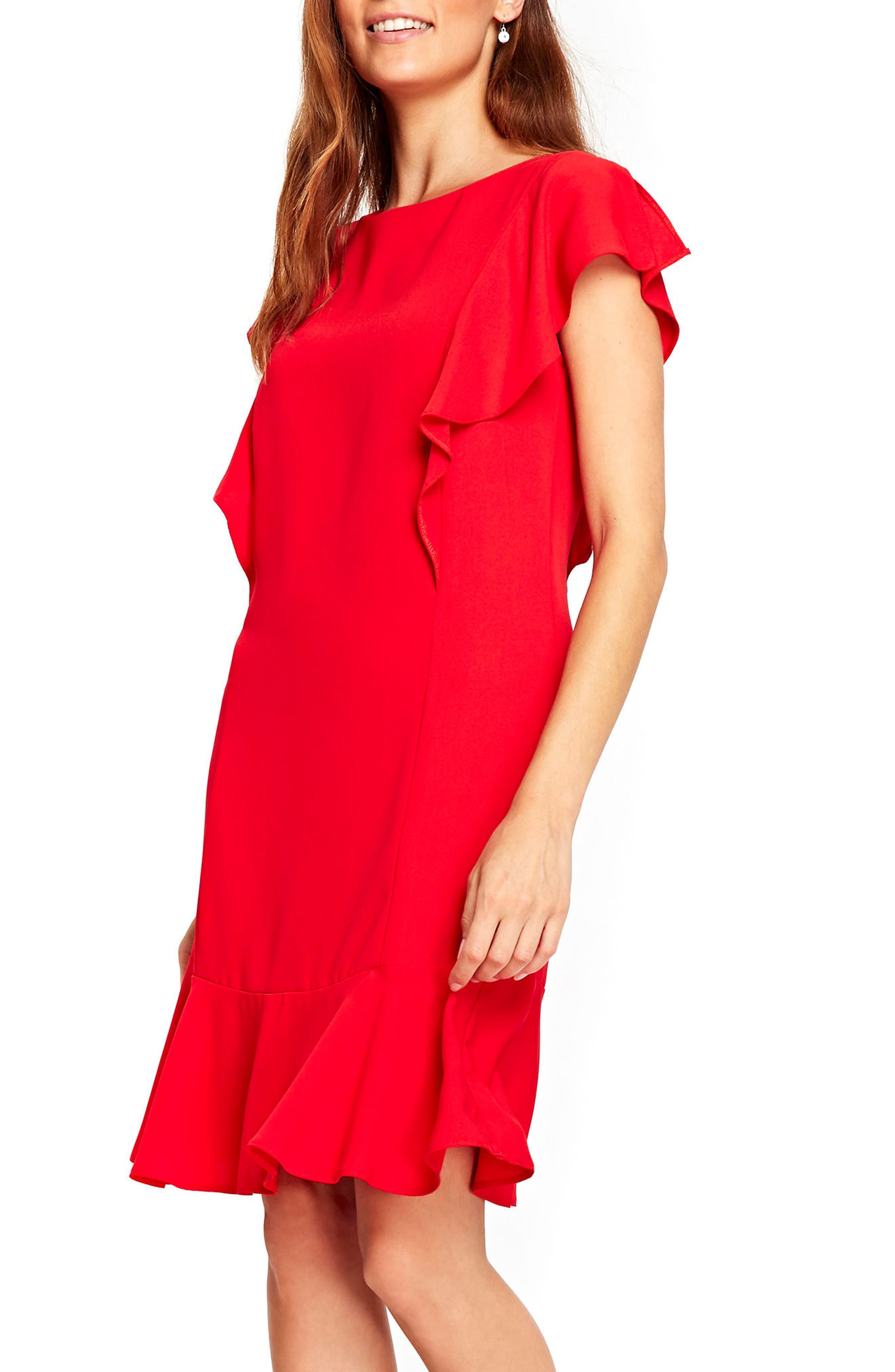 Alternate Image 1 Selected - Wallis Frill Sleeve Shift Dress