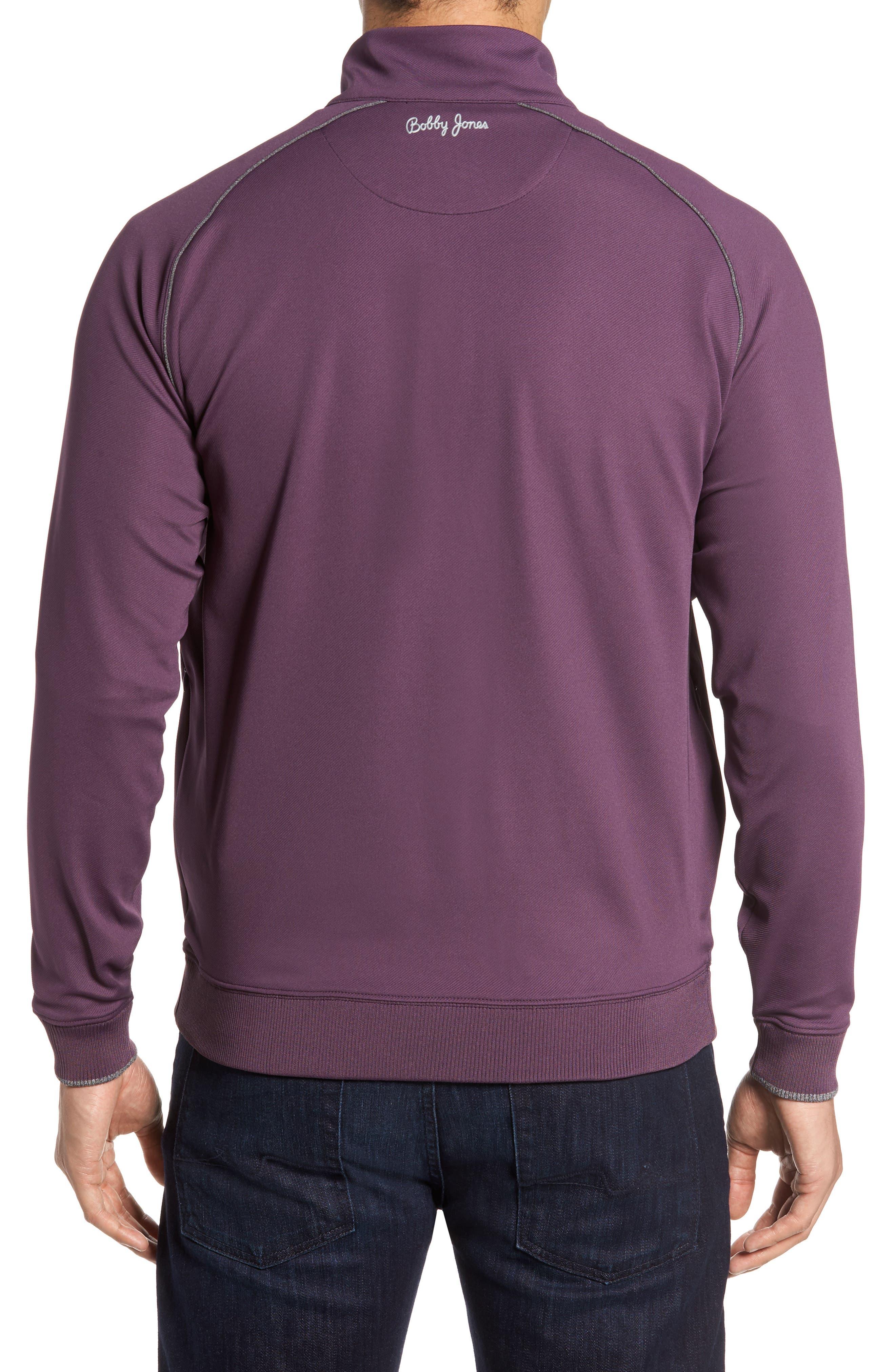 XH20 Banded Bottom Pullover,                             Alternate thumbnail 2, color,                             Blackberry