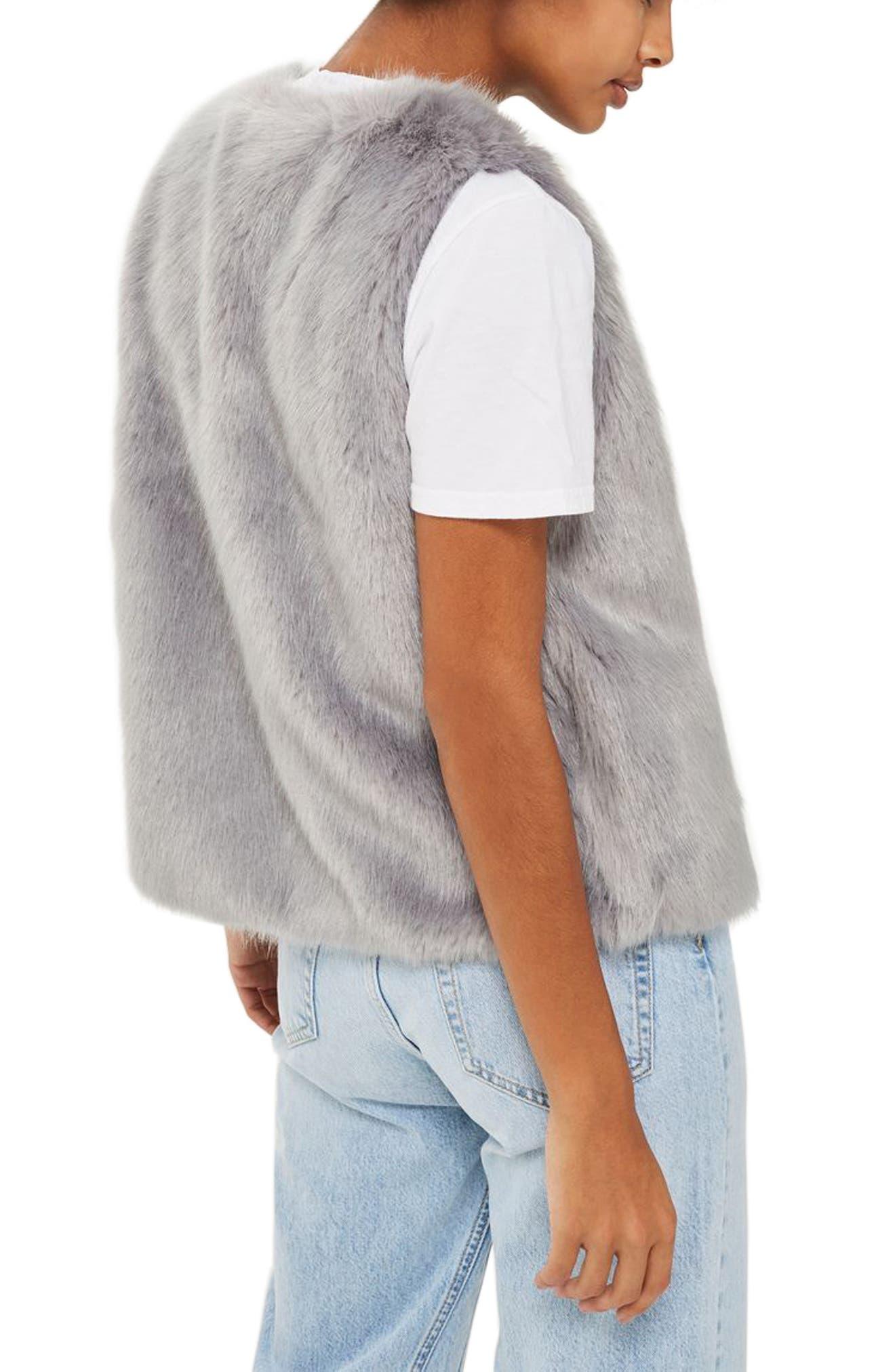 Alternate Image 2  - Topshop Clair Faux Fur Vest