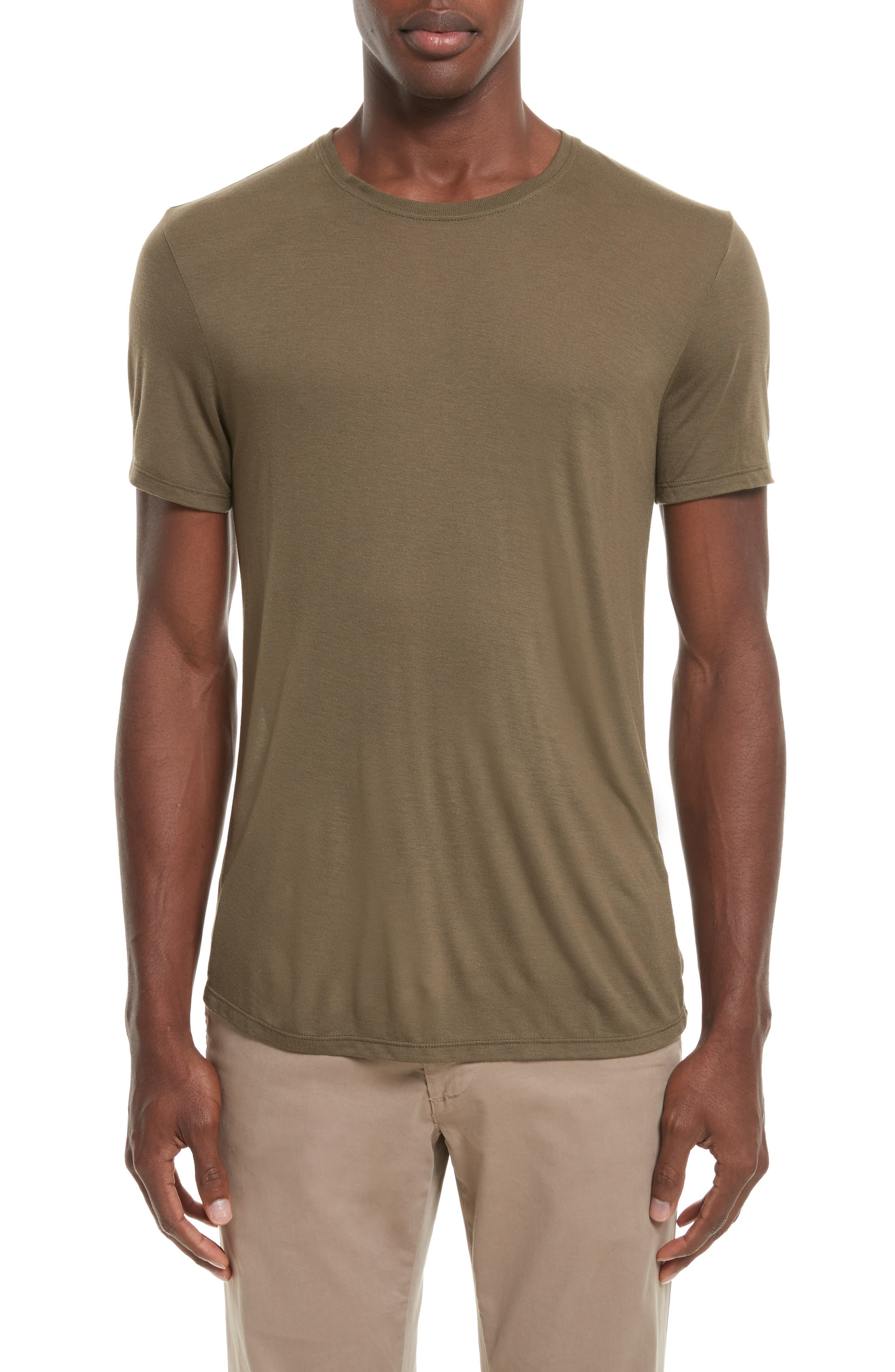 T-Shirt,                         Main,                         color, Olive
