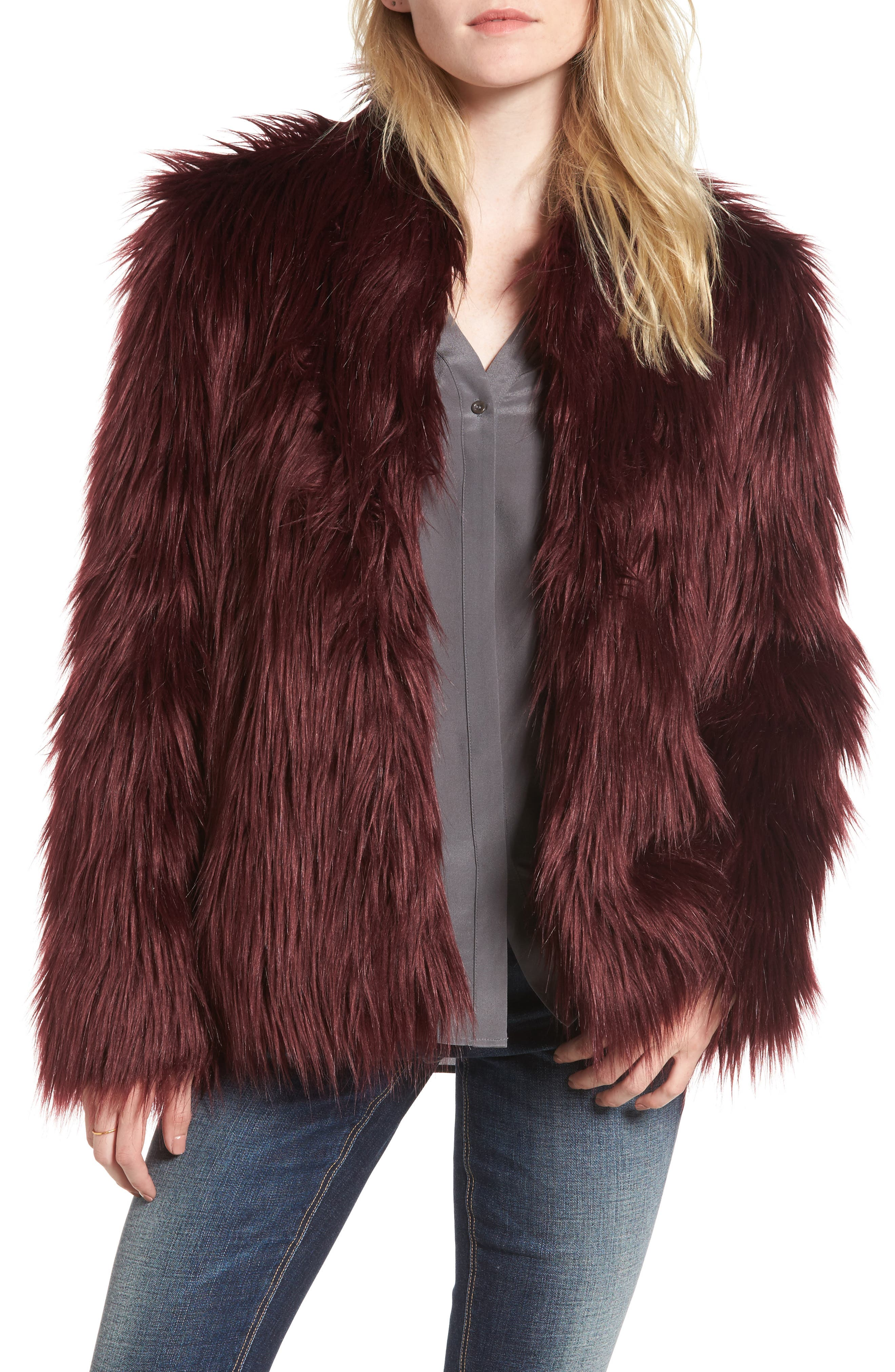 Alternate Image 1 Selected - Chelsea28 Faux Fur Jacket