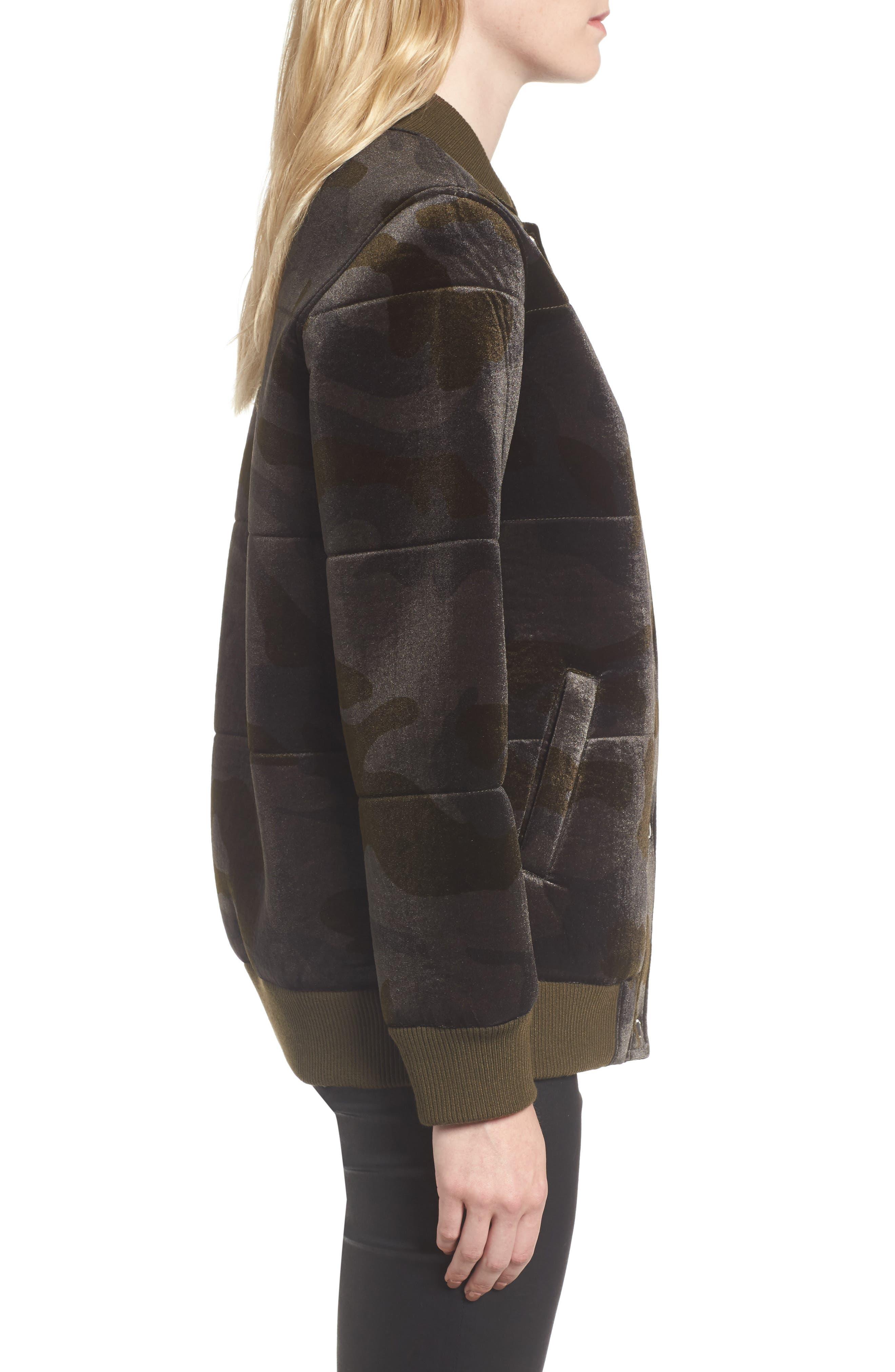 Alternate Image 3  - Members Only Velvet Bomber Jacket