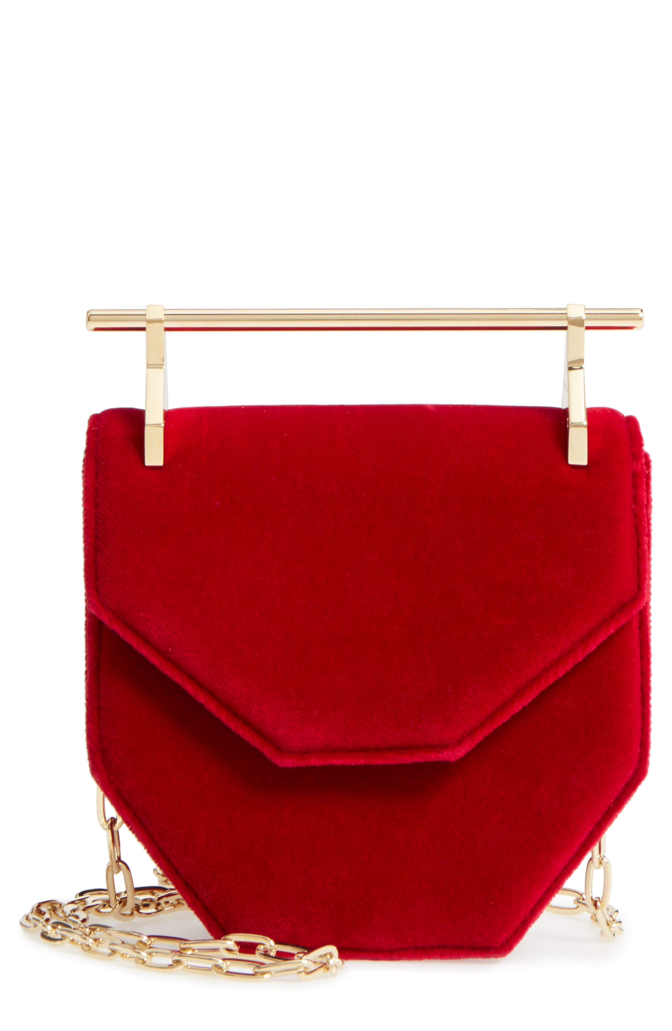 Alternate Image 1 Selected - M2Malletier Mini Amor Fati Velvet Shoulder Bag