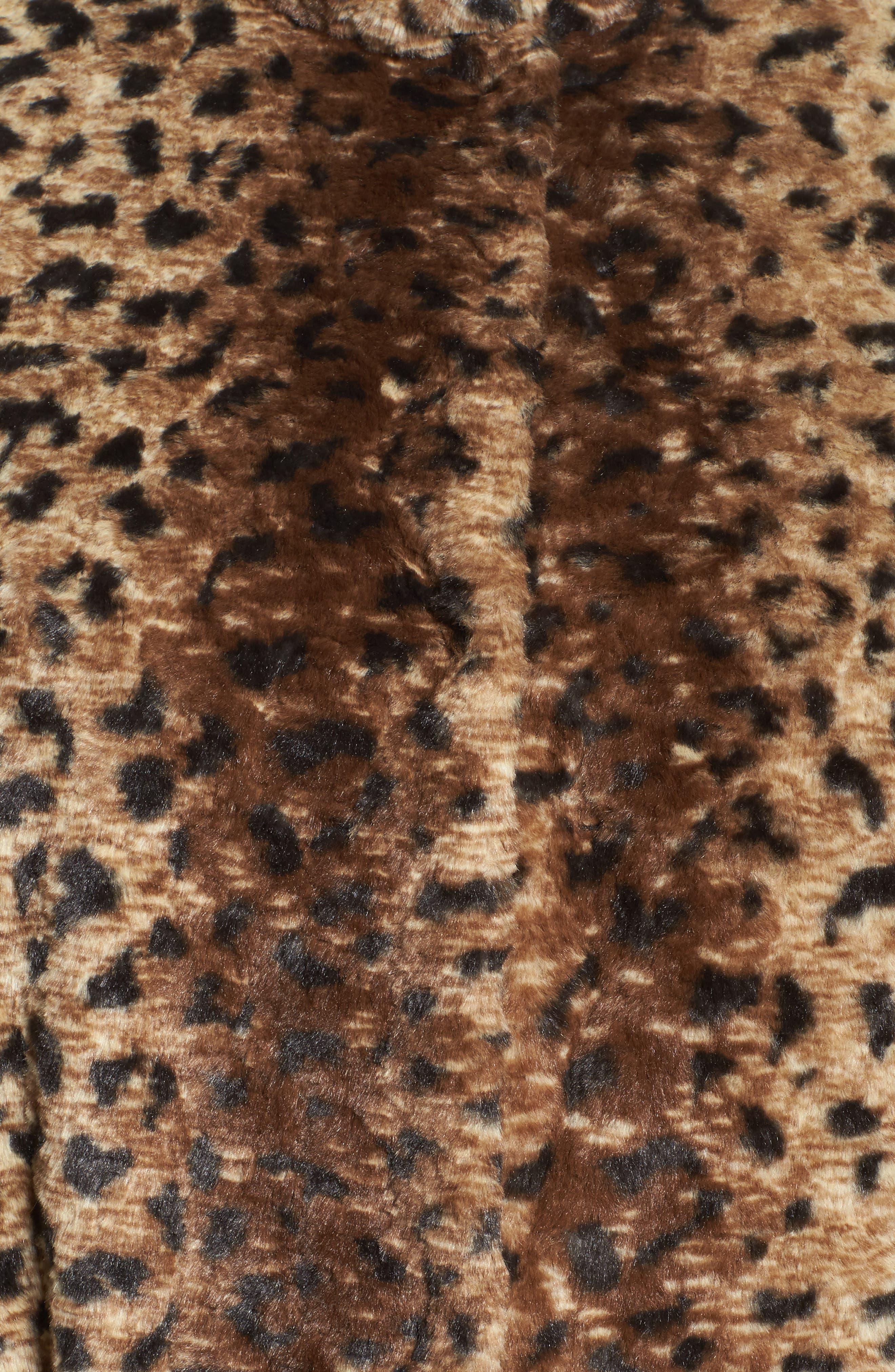 Reversible Coat,                             Alternate thumbnail 5, color,                             Cheetah