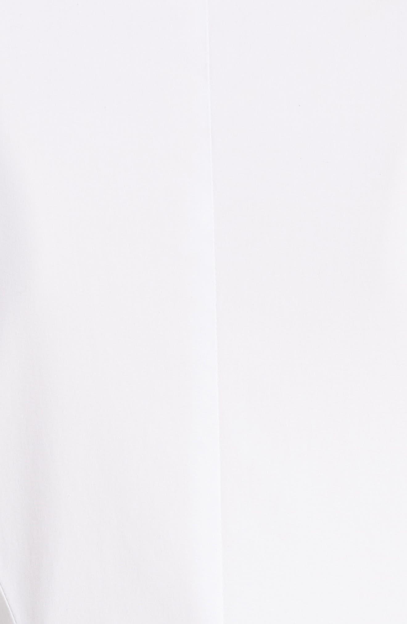 Peplum Shirt,                             Alternate thumbnail 6, color,                             White