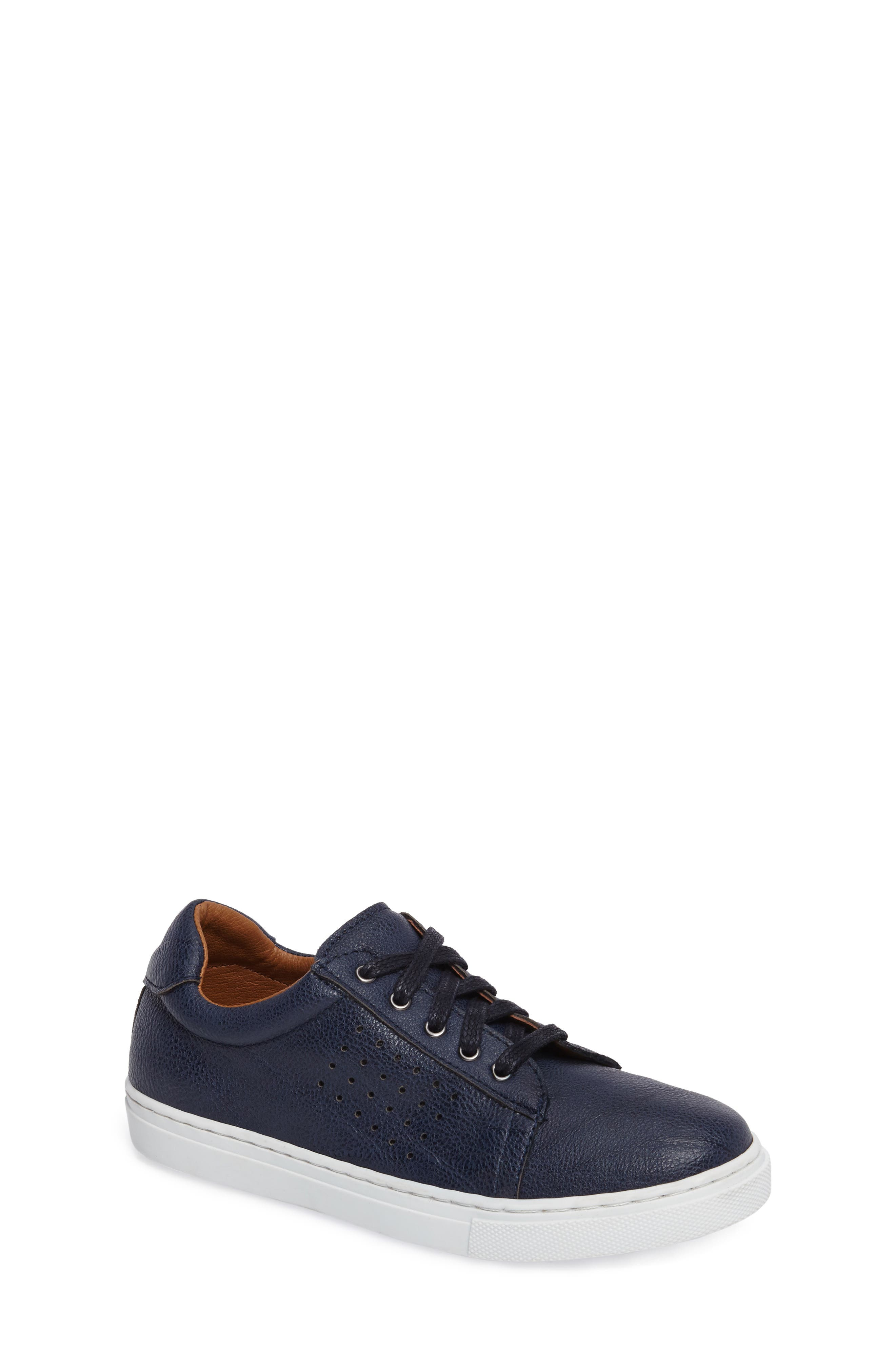 Grafte Perforated Sneaker,                             Main thumbnail 1, color,                             Navy