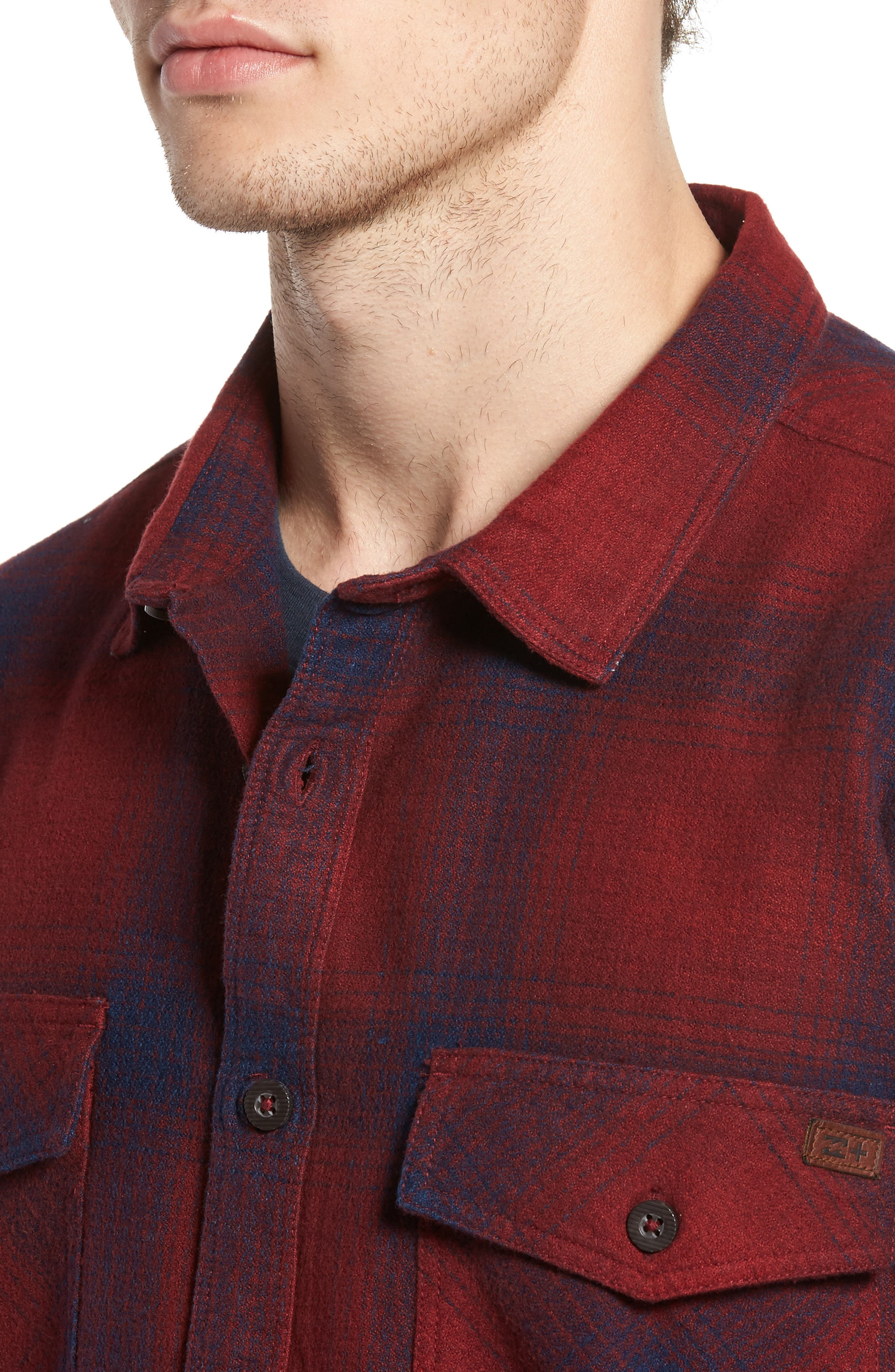 Ventura Flannel Shirt,                             Alternate thumbnail 4, color,                             Red