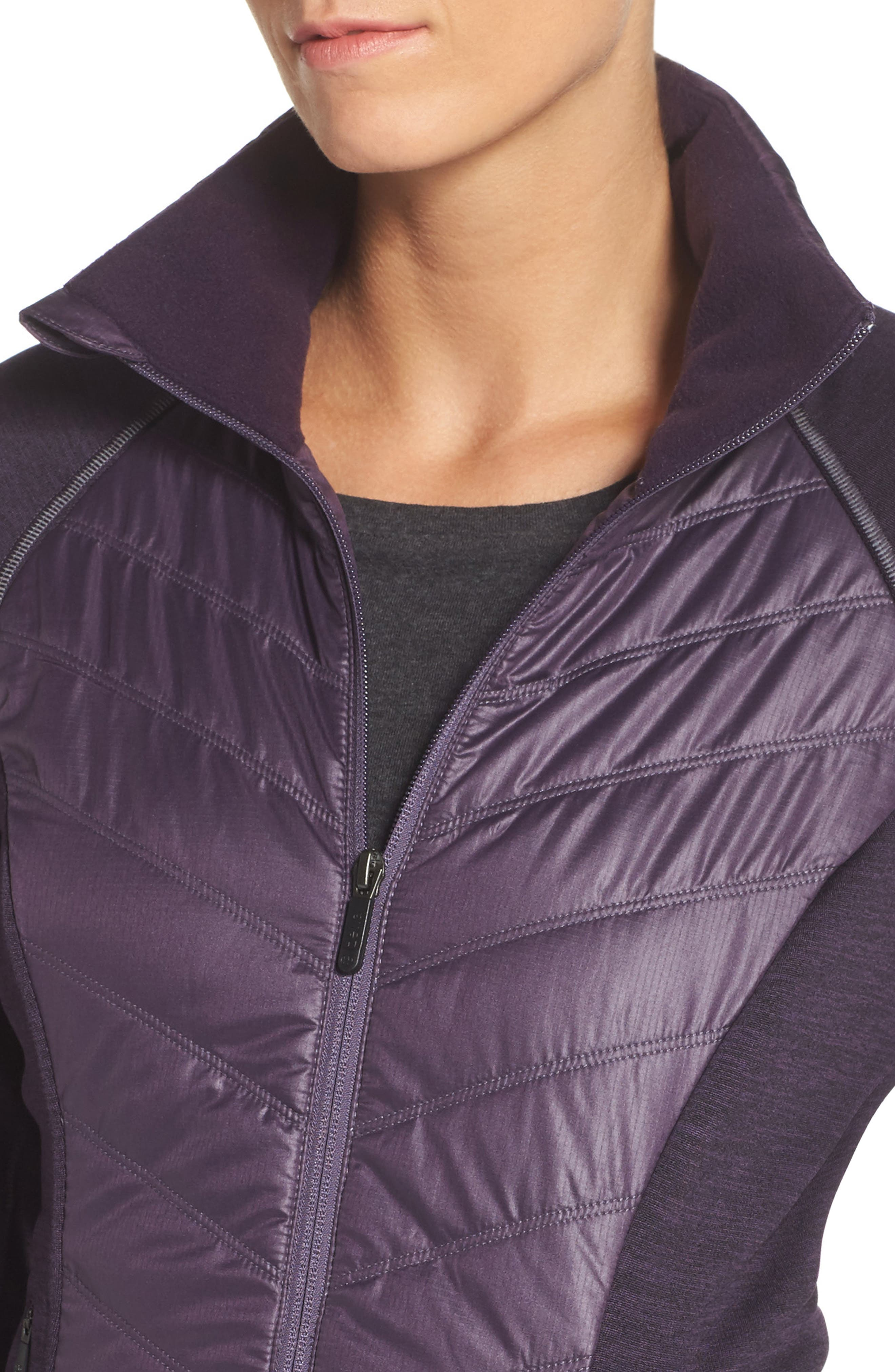 Alternate Image 4  - Zella Zelfusion Reflective Quilted Jacket