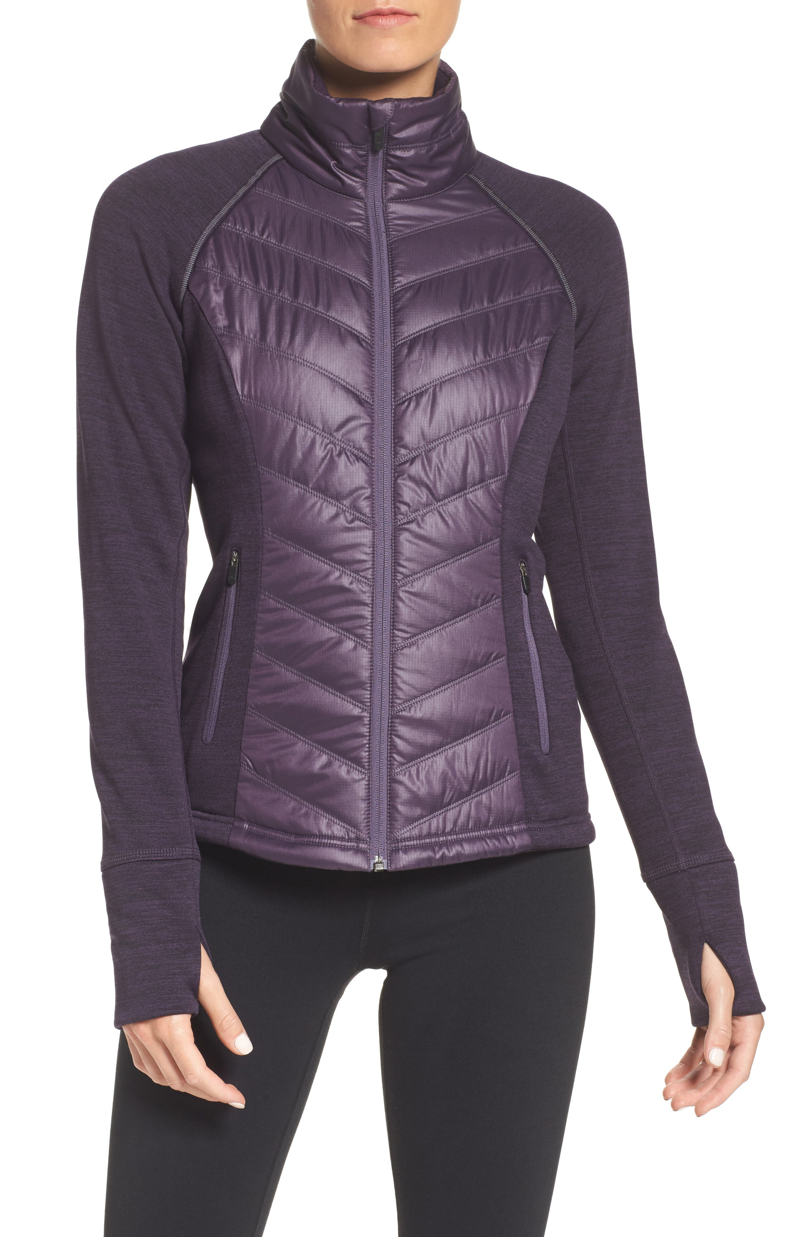 Alternate Image 1 Selected - Zella Zelfusion Reflective Quilted Jacket