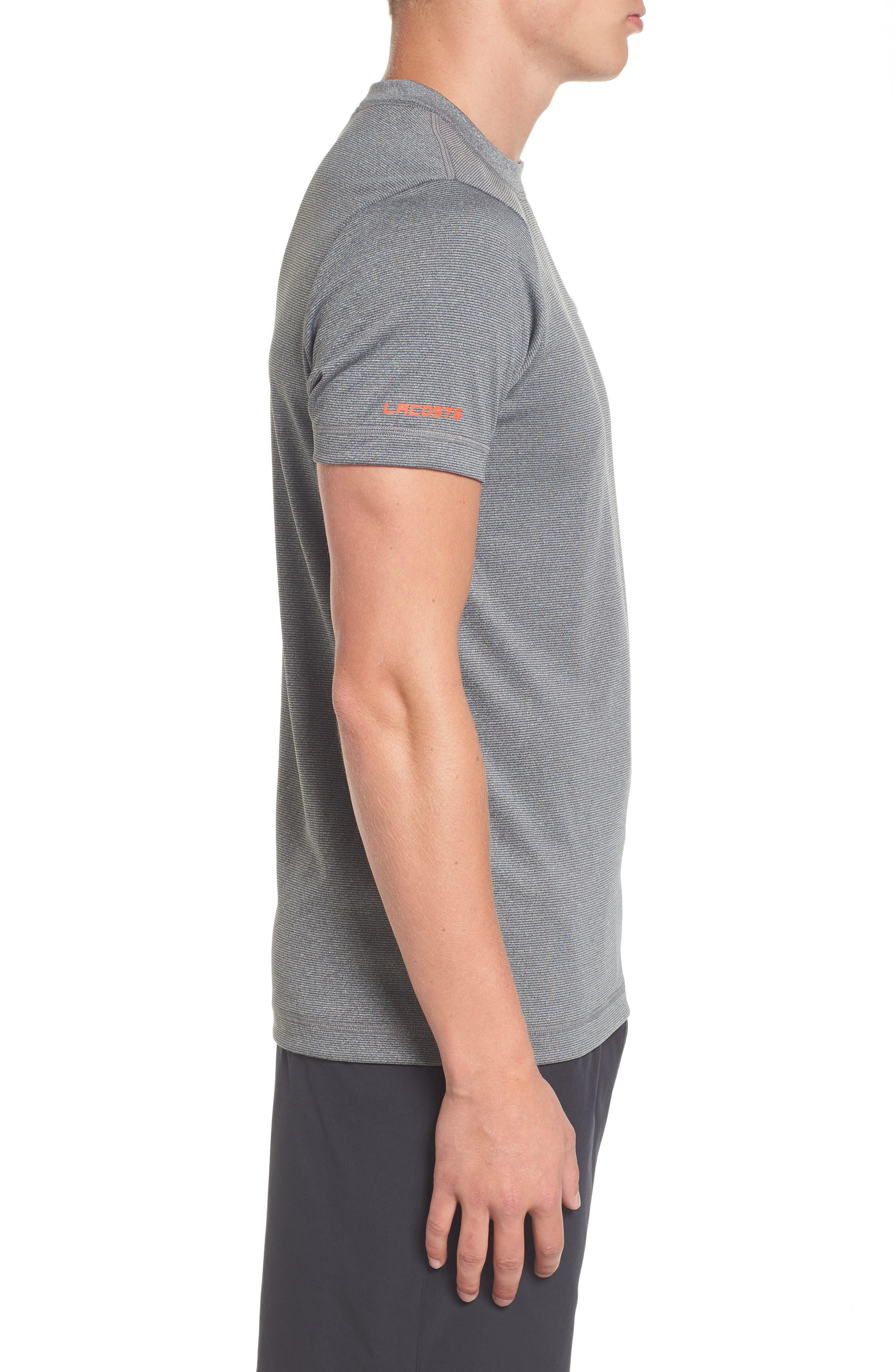 Alternate Image 3  - Lacoste Pinstripe Grommet T-Shirt