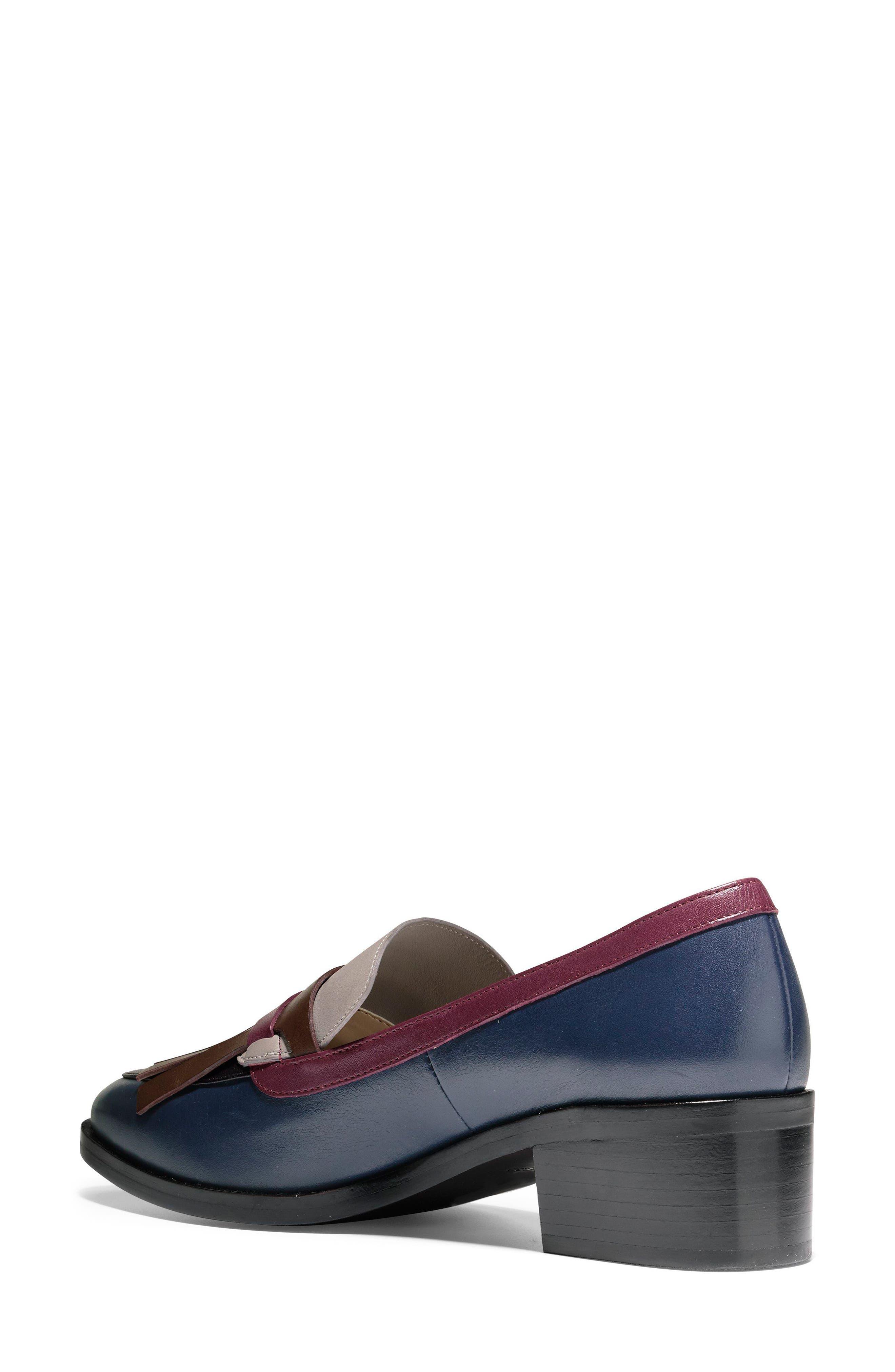 Margarite Loafer Pump,                             Alternate thumbnail 2, color,                             Marine Blue Leather