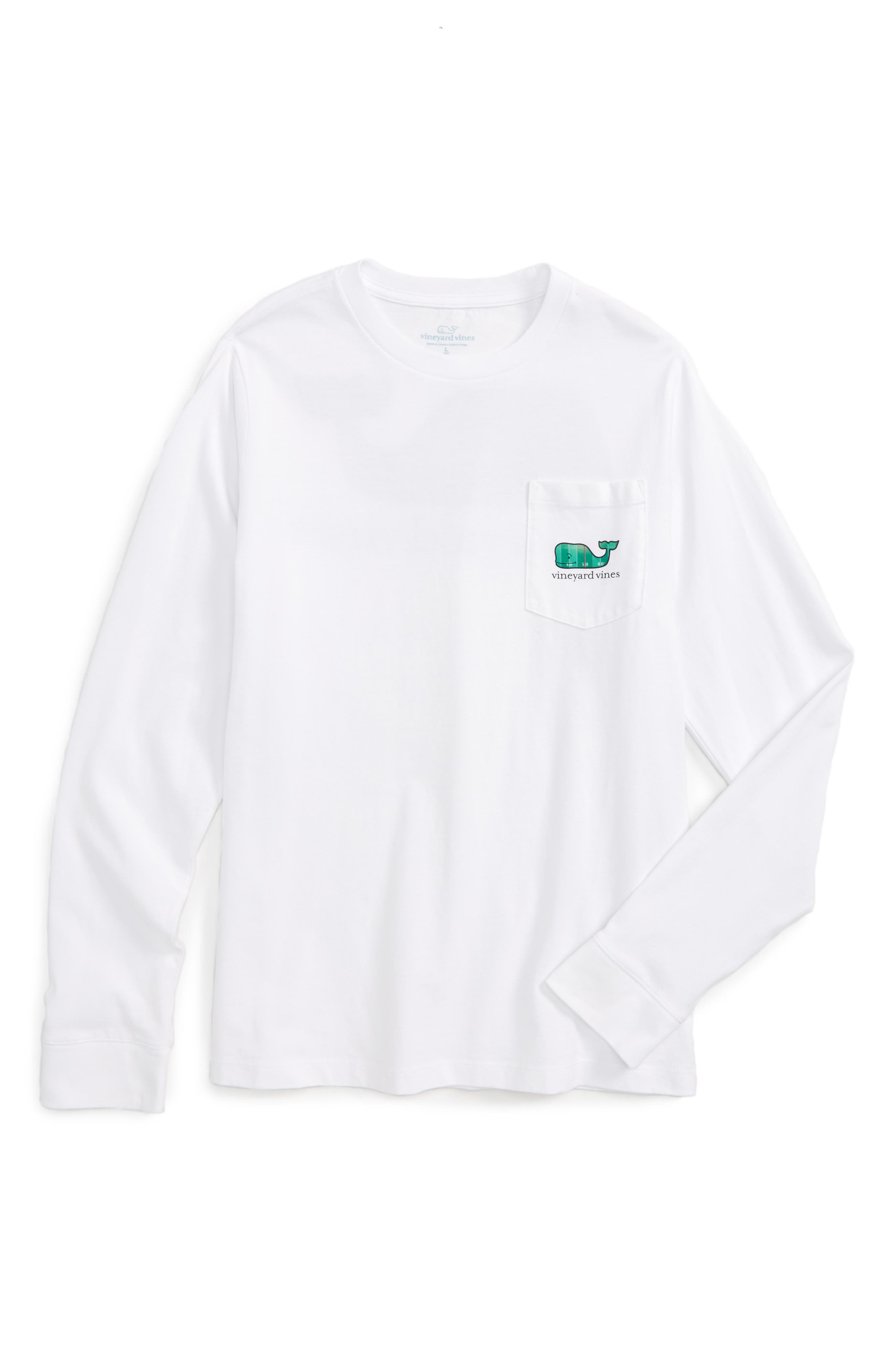 Vineyard Vines Footbal Field Whale Pocket T-Shirt (Big Boys)