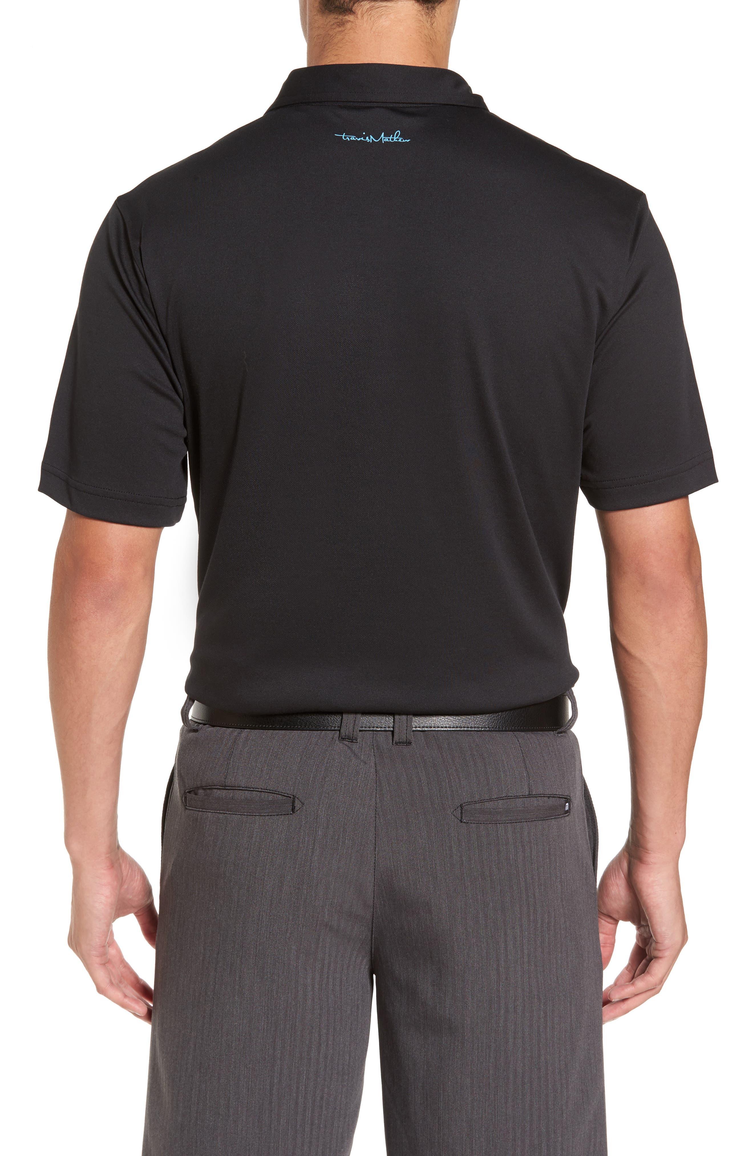 Russ Chest Stripe Pocket Polo,                             Alternate thumbnail 2, color,                             Black