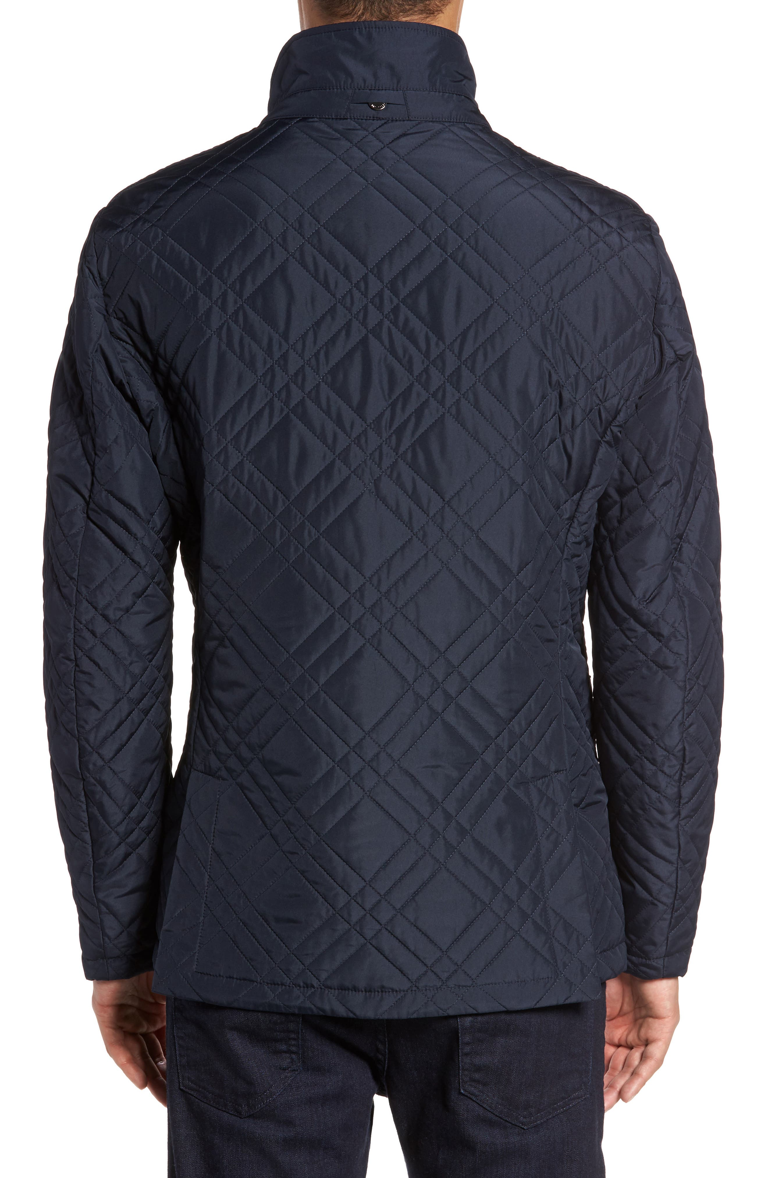 Quilted Field Jacket,                             Alternate thumbnail 3, color,                             Blue Navy