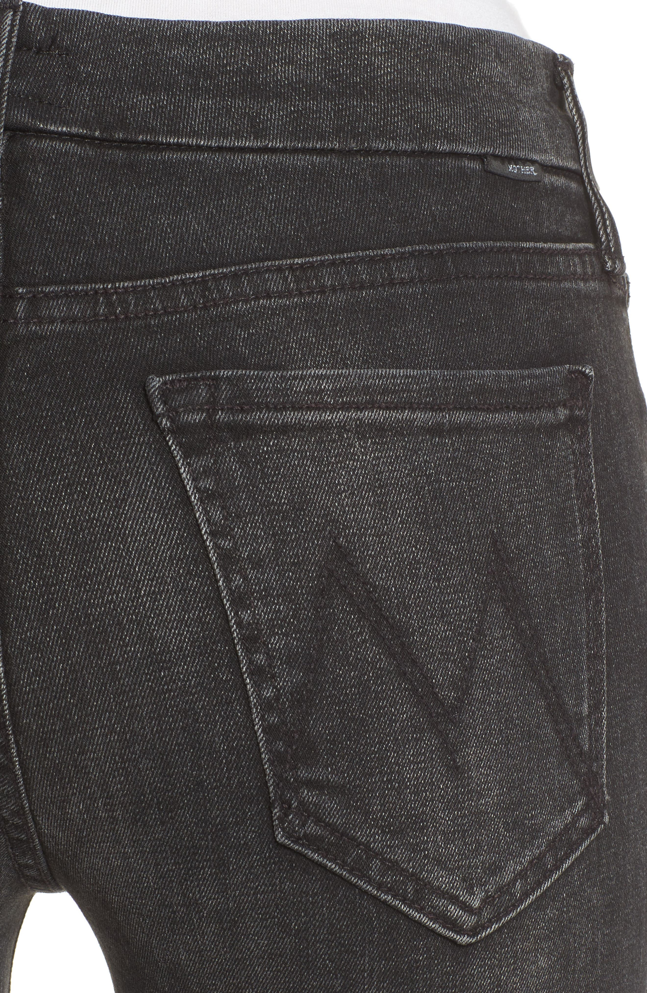 Alternate Image 4  - MOTHER The Looker Frayed Ankle Jeans (Night Hawk)