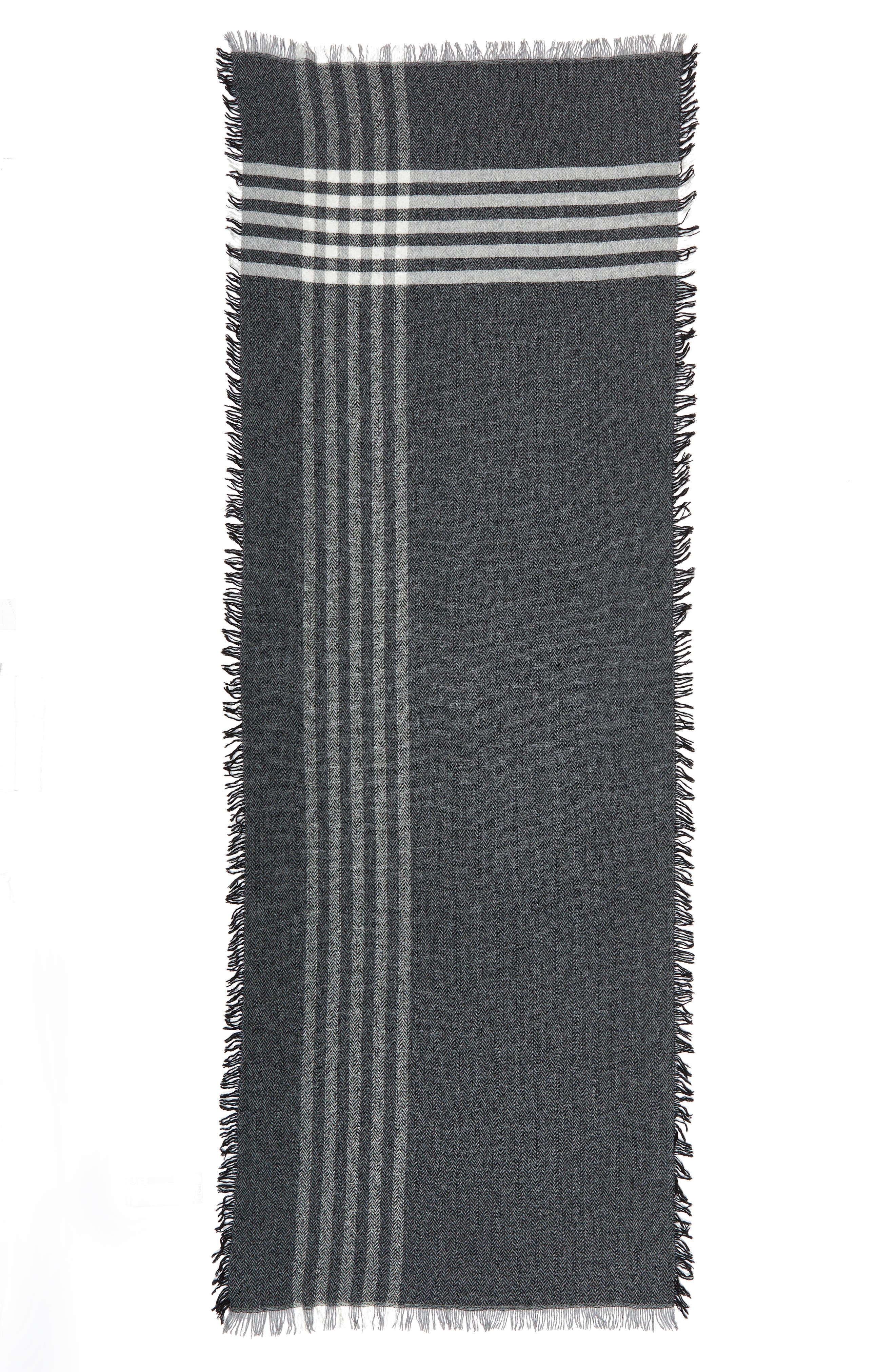 Alternate Image 2  - Eileen Fisher Plaid Wool Blend Scarf