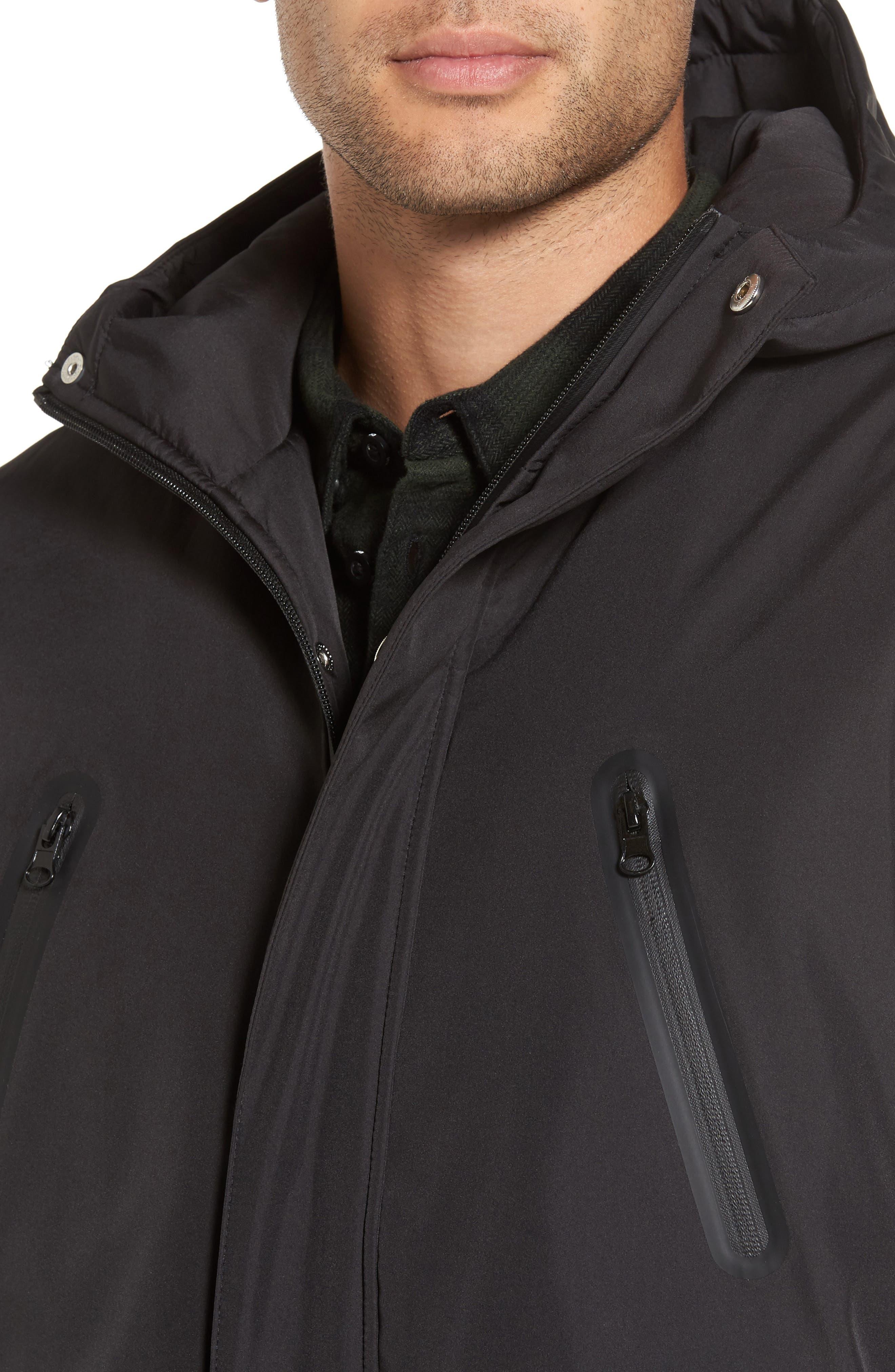 Cedric Weatherproof Jacket,                             Alternate thumbnail 4, color,                             Black