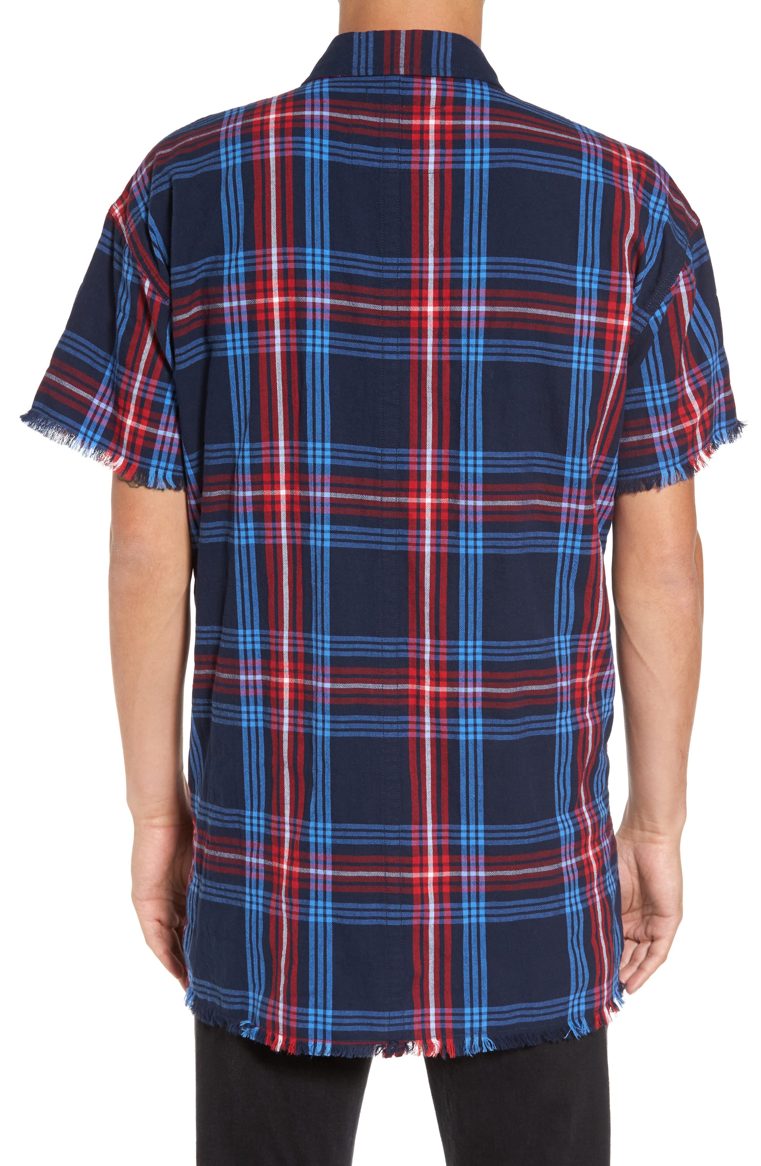 Alternate Image 2  - True Religion Brand Jeans Raw Edge Plaid Woven Shirt