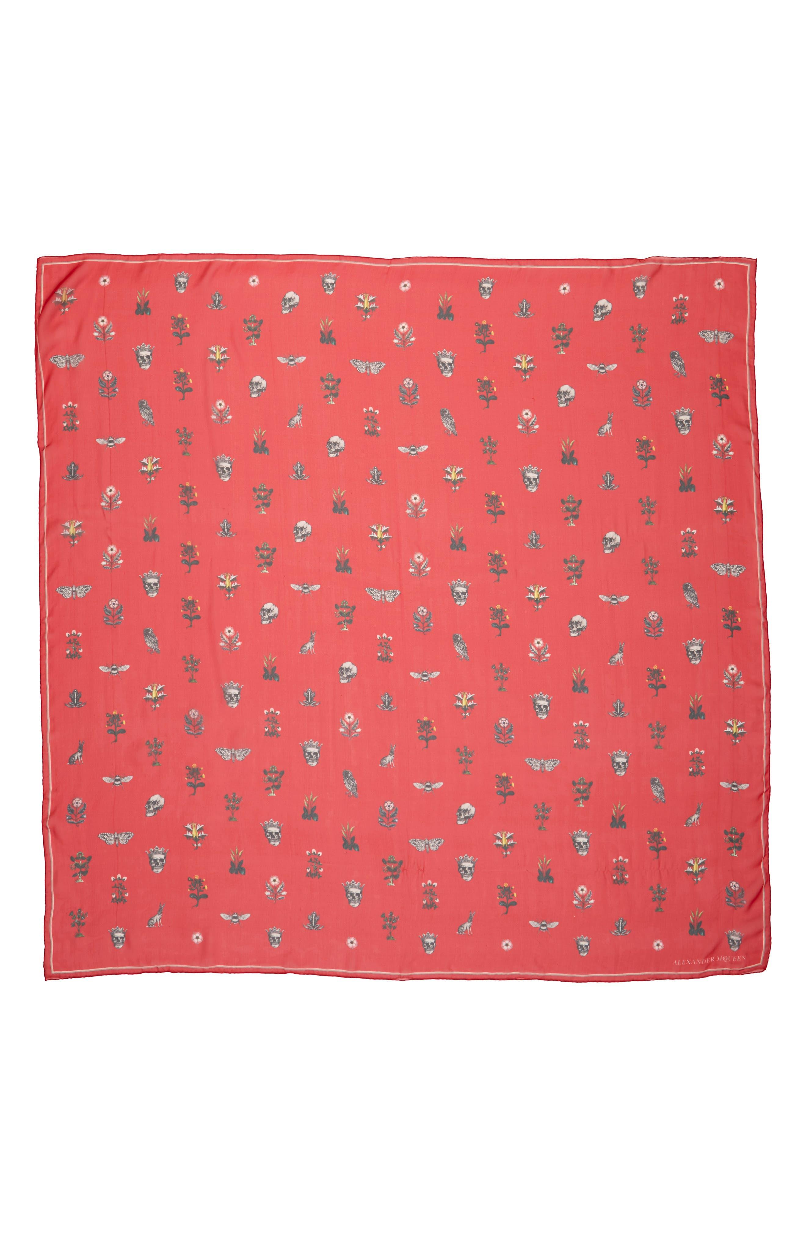 Alexander McQueen Medieval Flower Silk Scarf