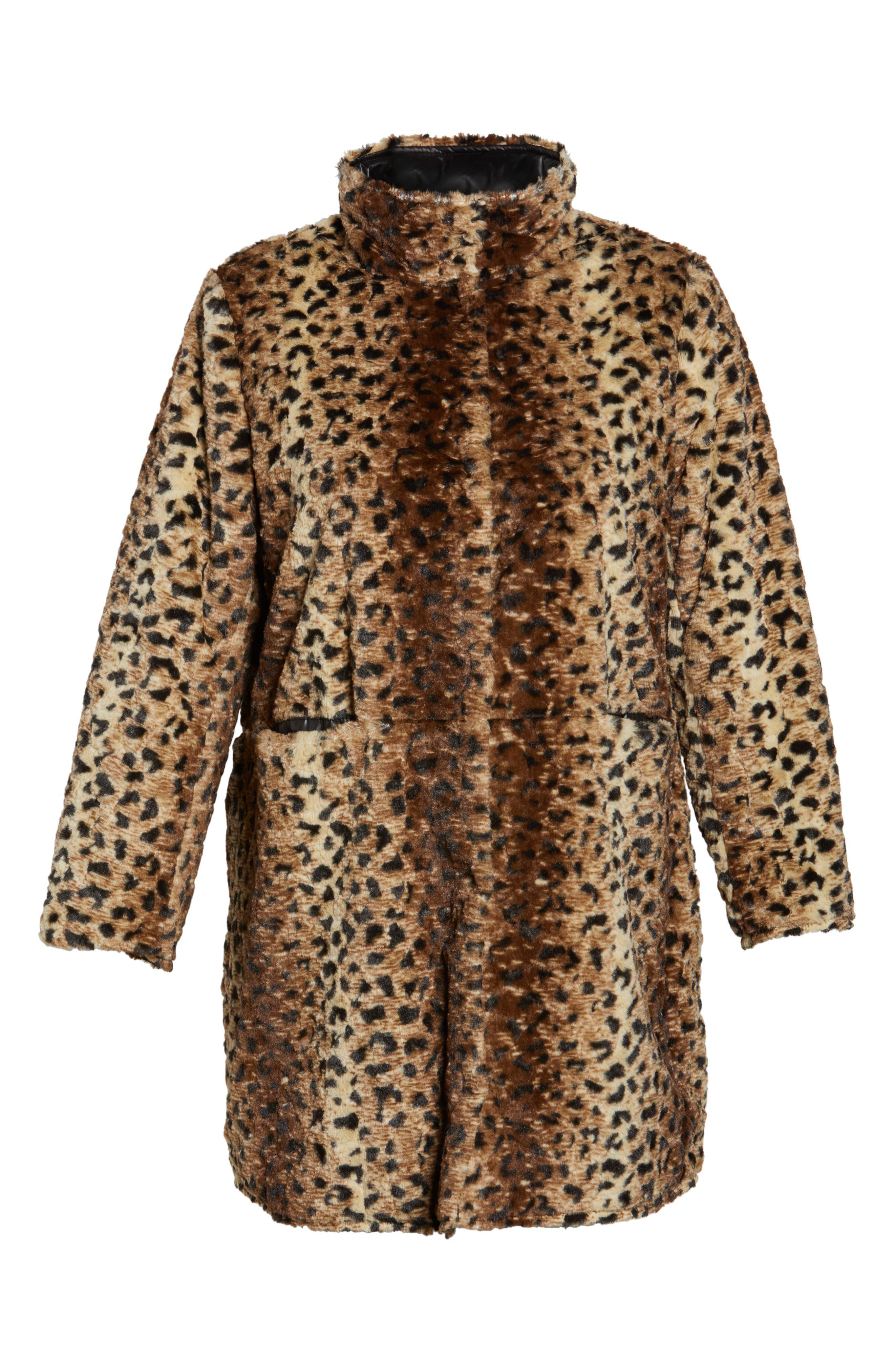 Reversible Coat,                             Alternate thumbnail 6, color,                             Cheetah