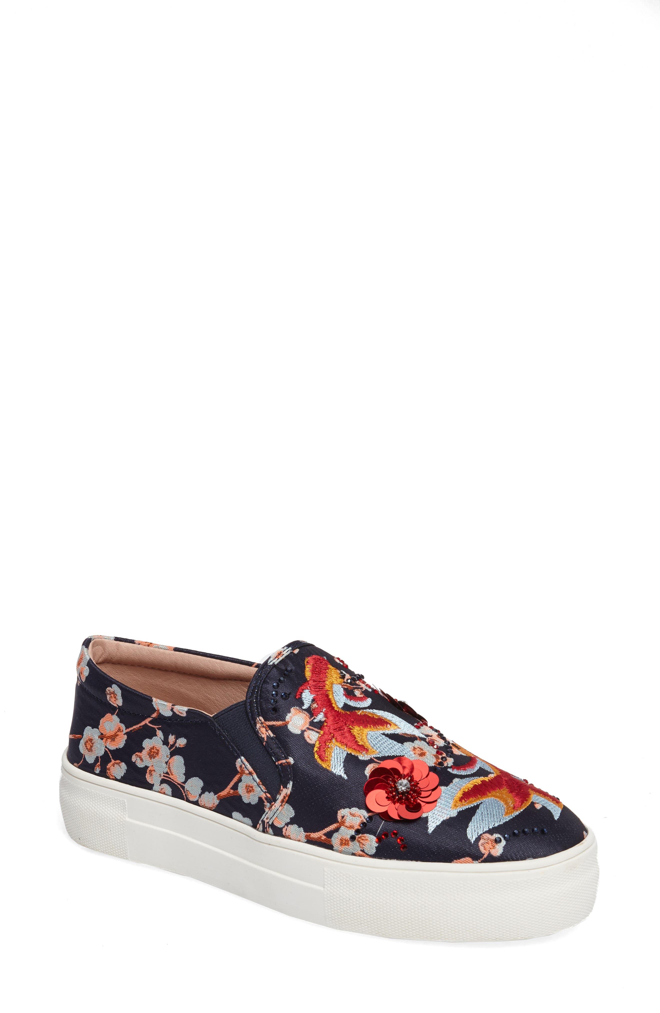 Topshop Theory Goldfish Embellished Slip-On Sneaker (Women)