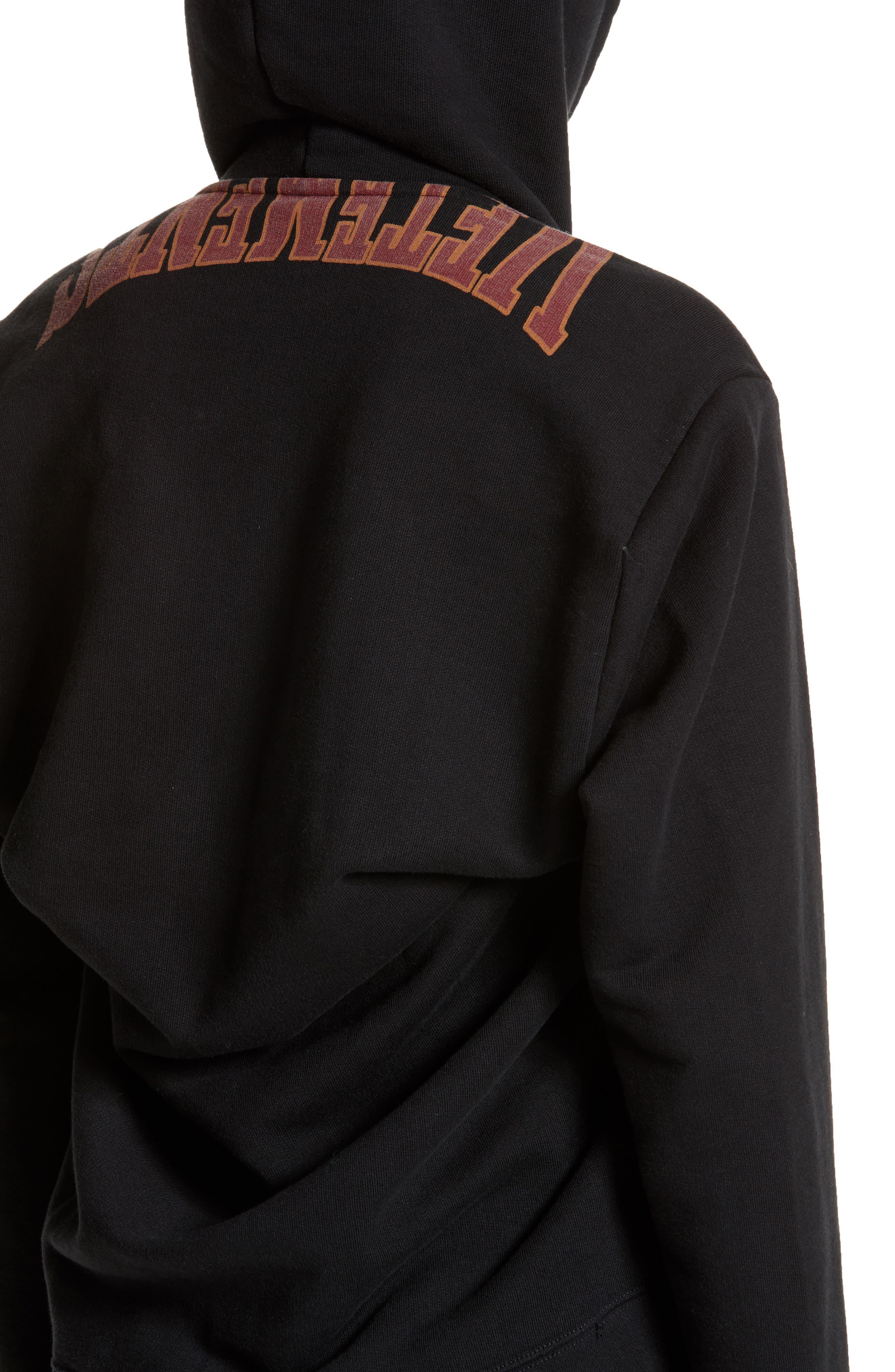 Alternate Image 4  - Vetements Misplaced Logo Hoodie