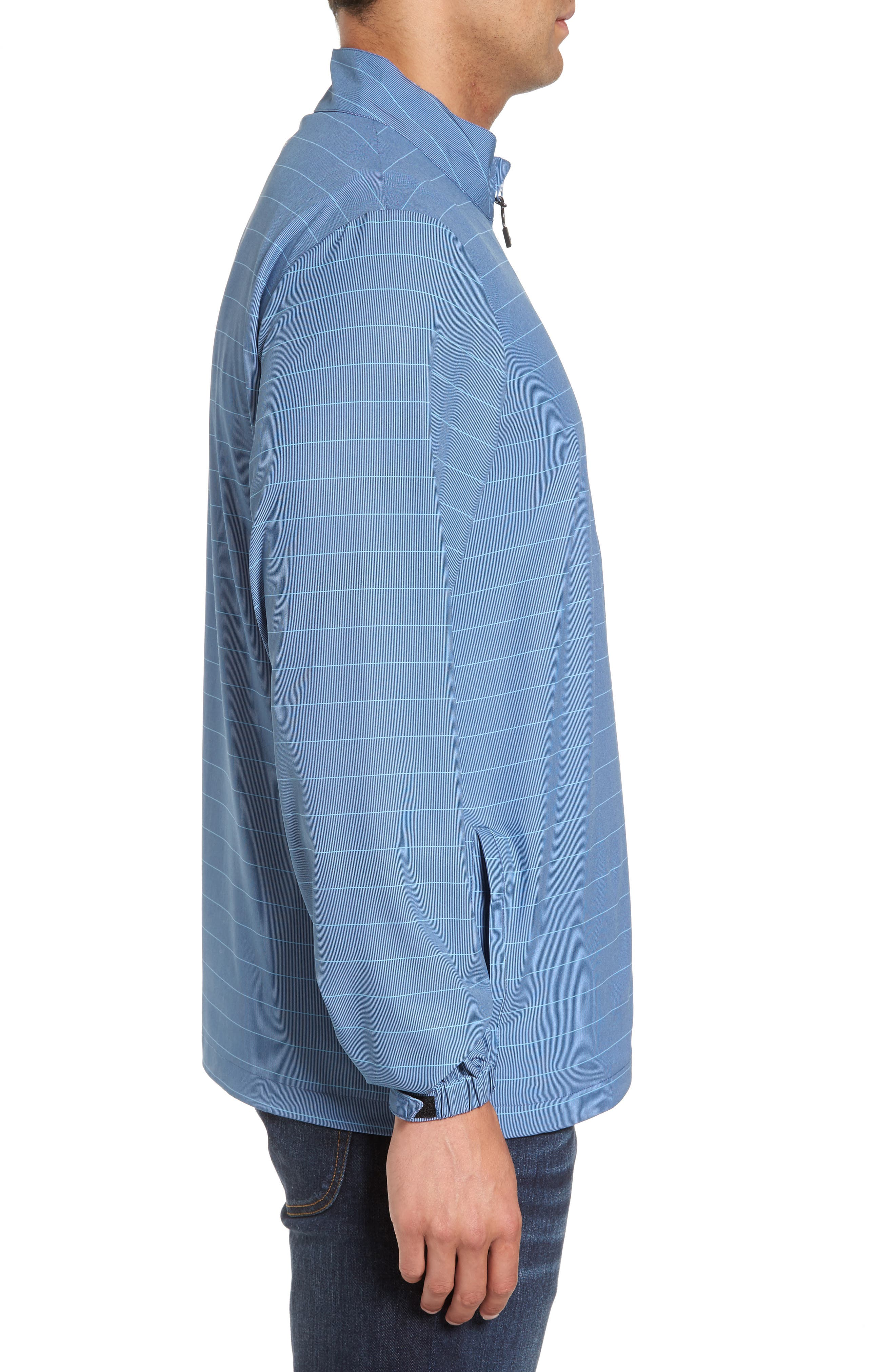 Dubes Quarter Zip Pullover Jacket,                             Alternate thumbnail 3, color,                             Blue Indigo