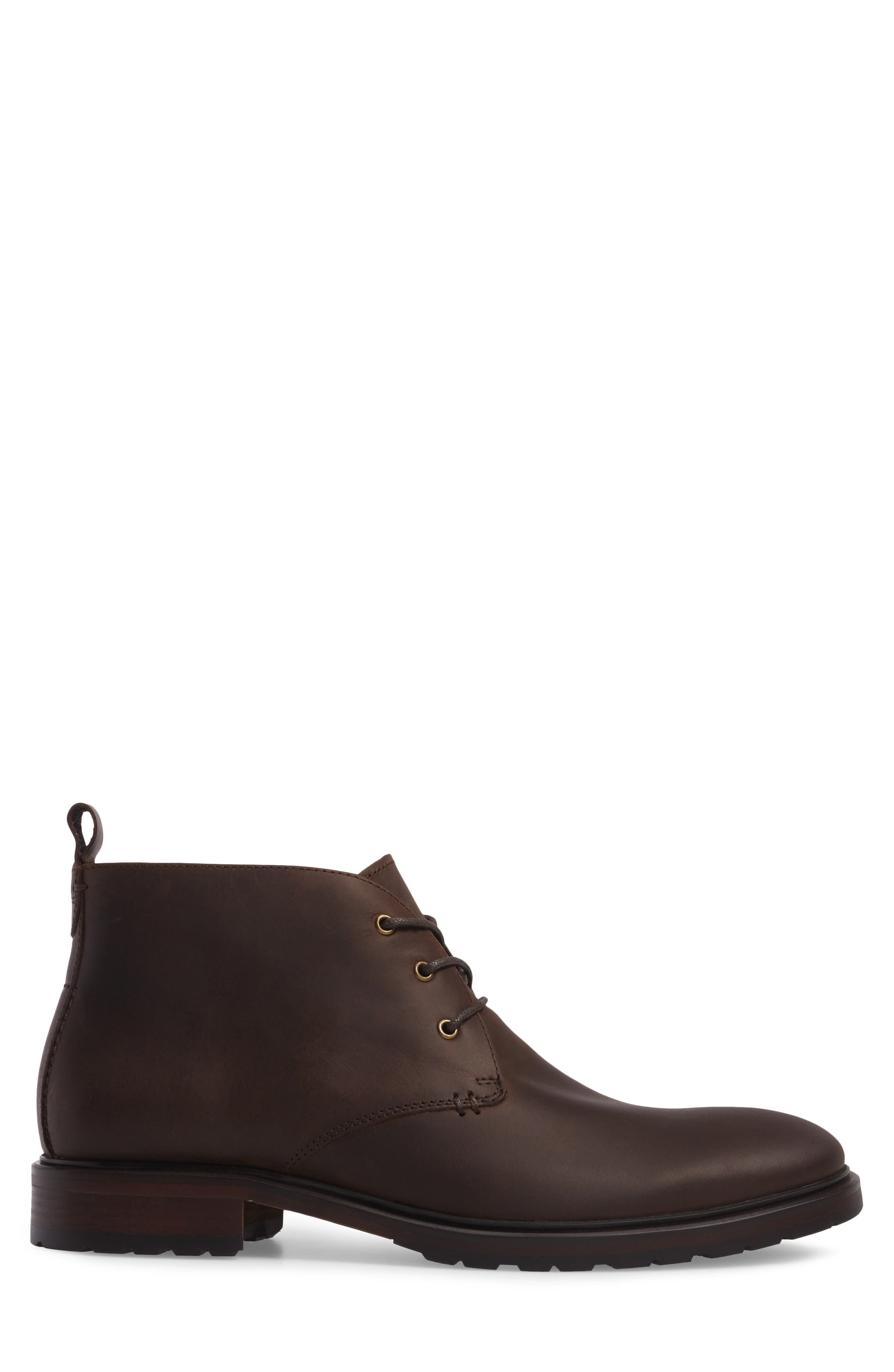 Myles Chukka Boot,                             Alternate thumbnail 3, color,                             Dark Brown Leather