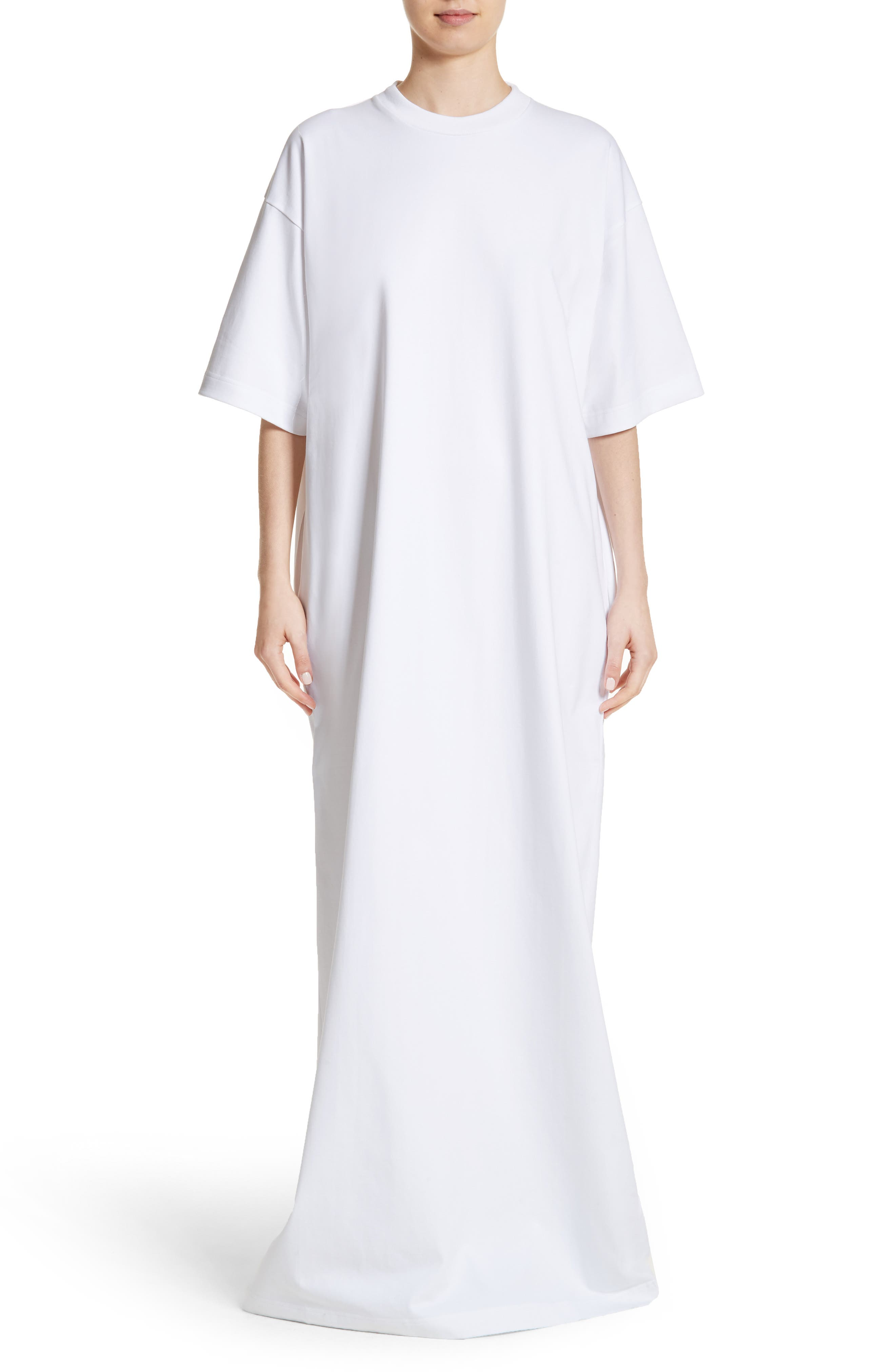T-Shirt Dress,                             Main thumbnail 1, color,                             White