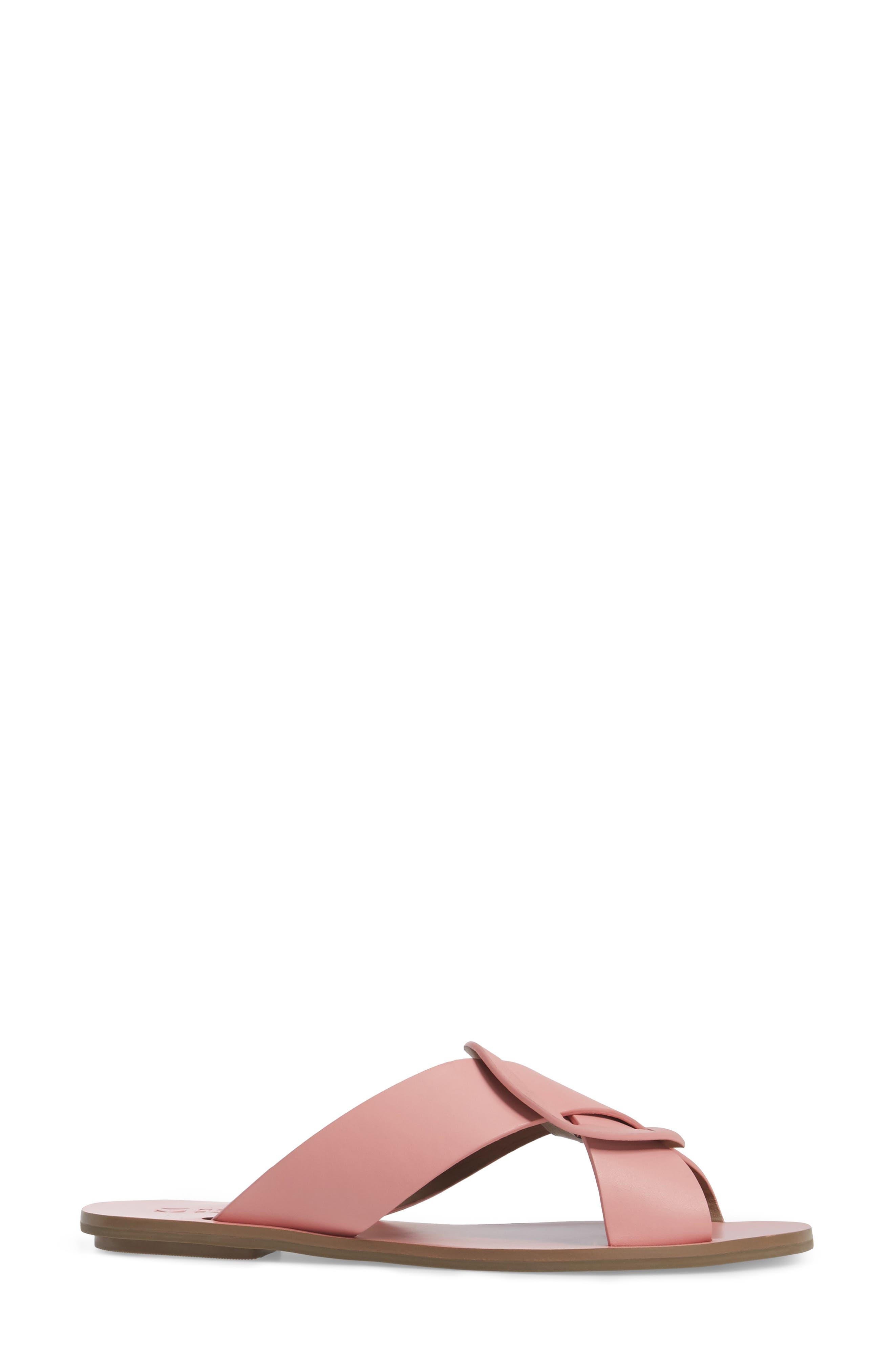 Carlein Slide Sandal,                             Alternate thumbnail 4, color,                             Pink Peony Leather
