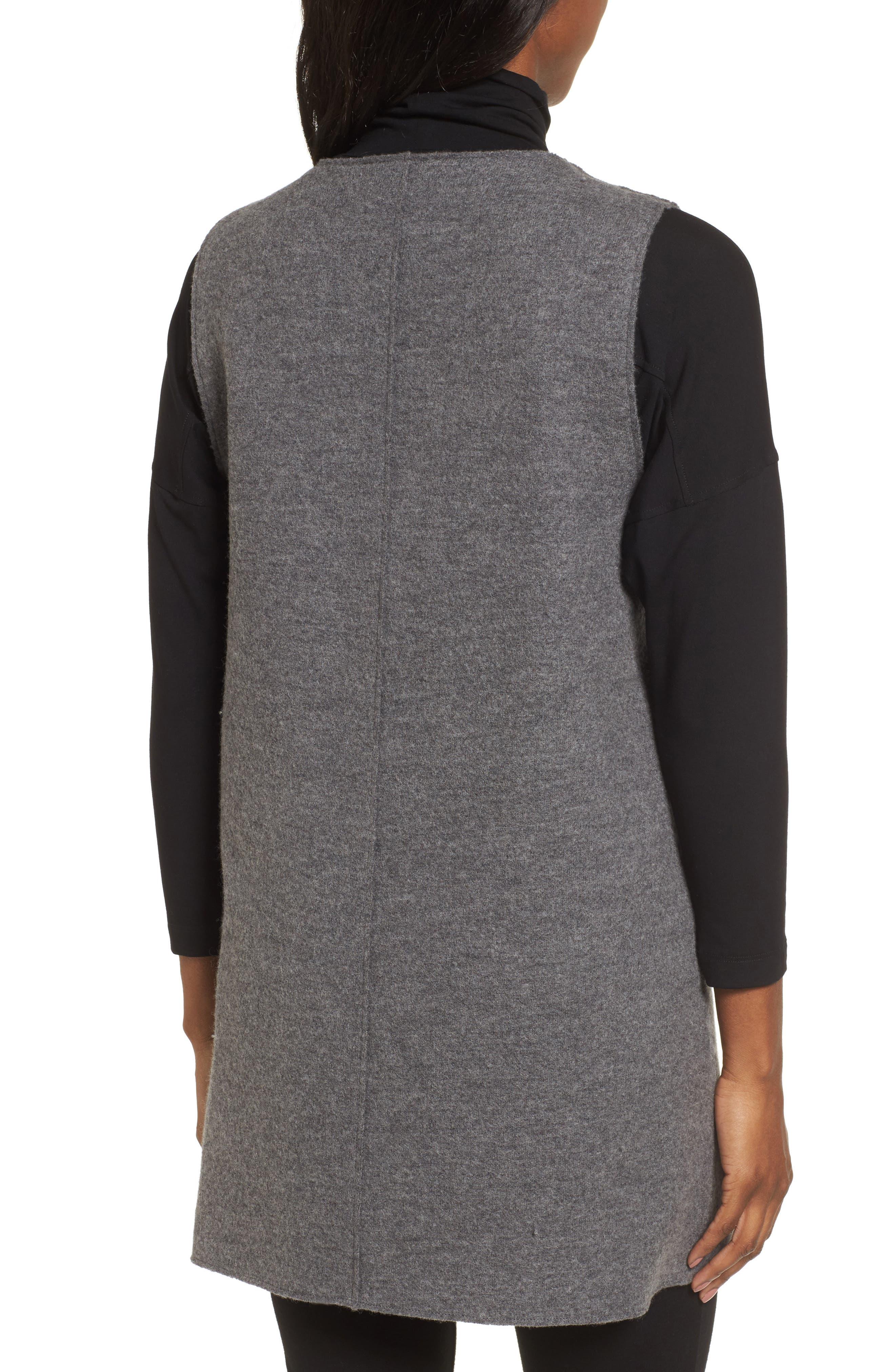 Alternate Image 2  - Eileen Fisher Long Boiled Wool Vest (Regular & Petite)
