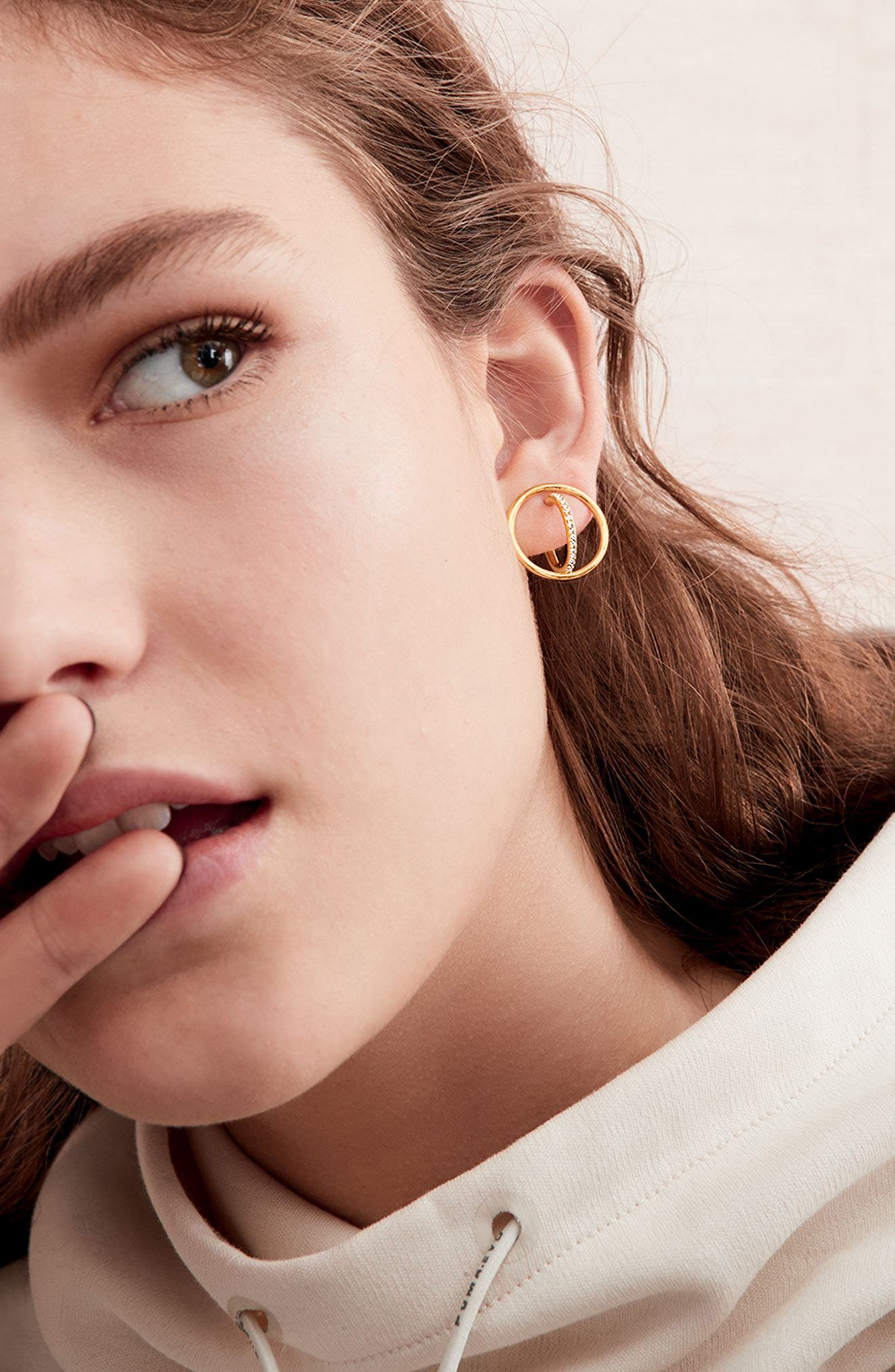 Orbit Crystal Stud Earrings,                             Alternate thumbnail 3, color,