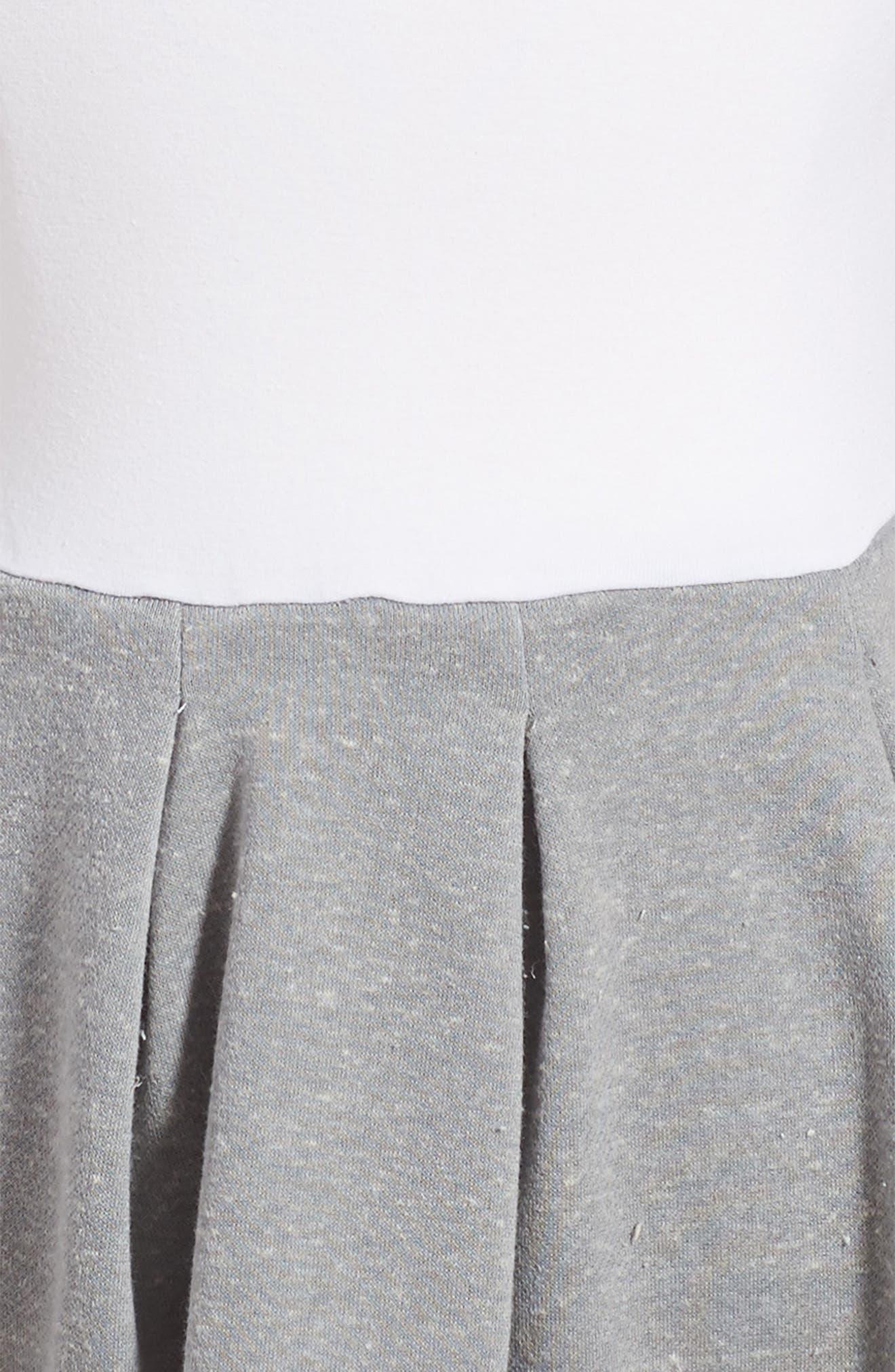 Pastourelle by Pippa and Julie Sleeveless Dress & Sweatshirt Set,                             Alternate thumbnail 4, color,                             Grey