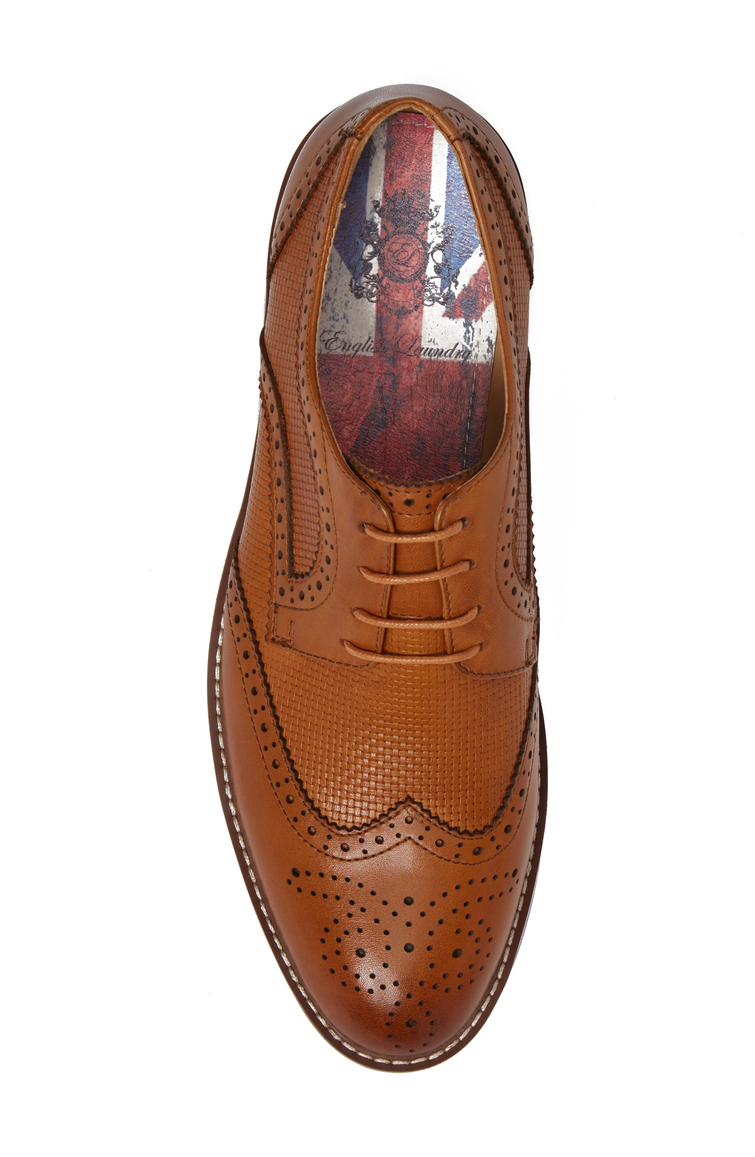 Northfields Spectator Shoe,                             Alternate thumbnail 5, color,                             Cognac Leather