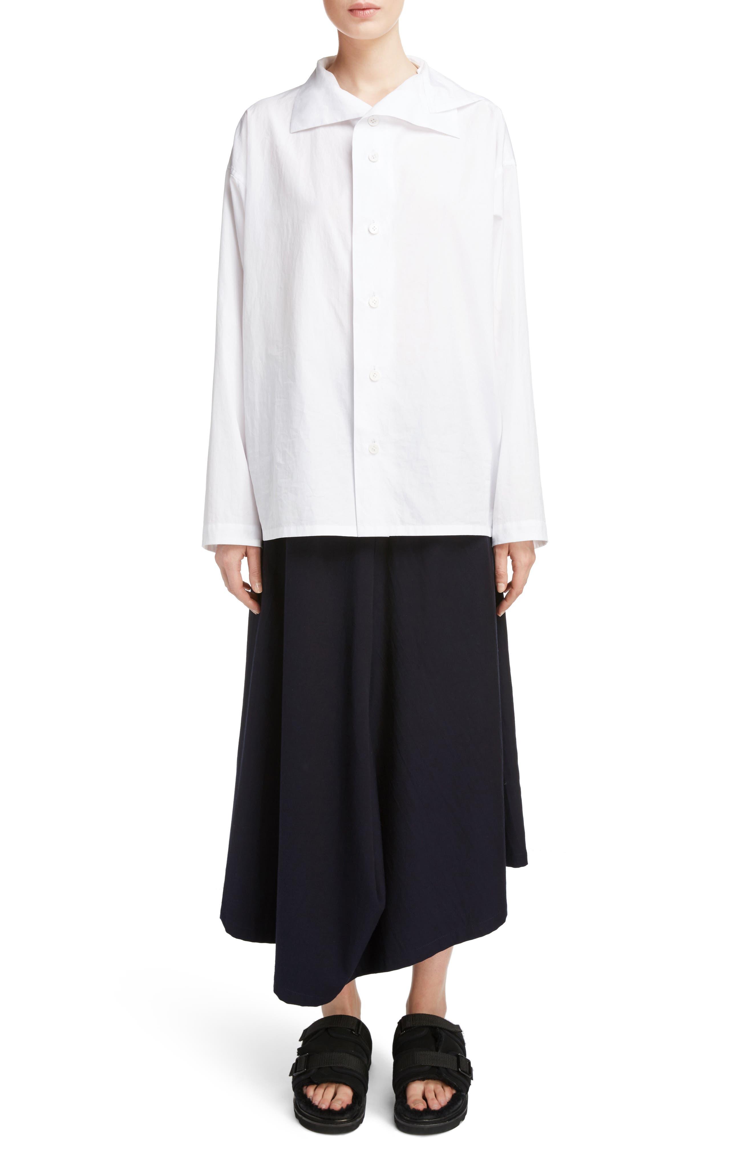 YS BY YOHJI YAMAMOTO Asymmetrical Collar Blouse
