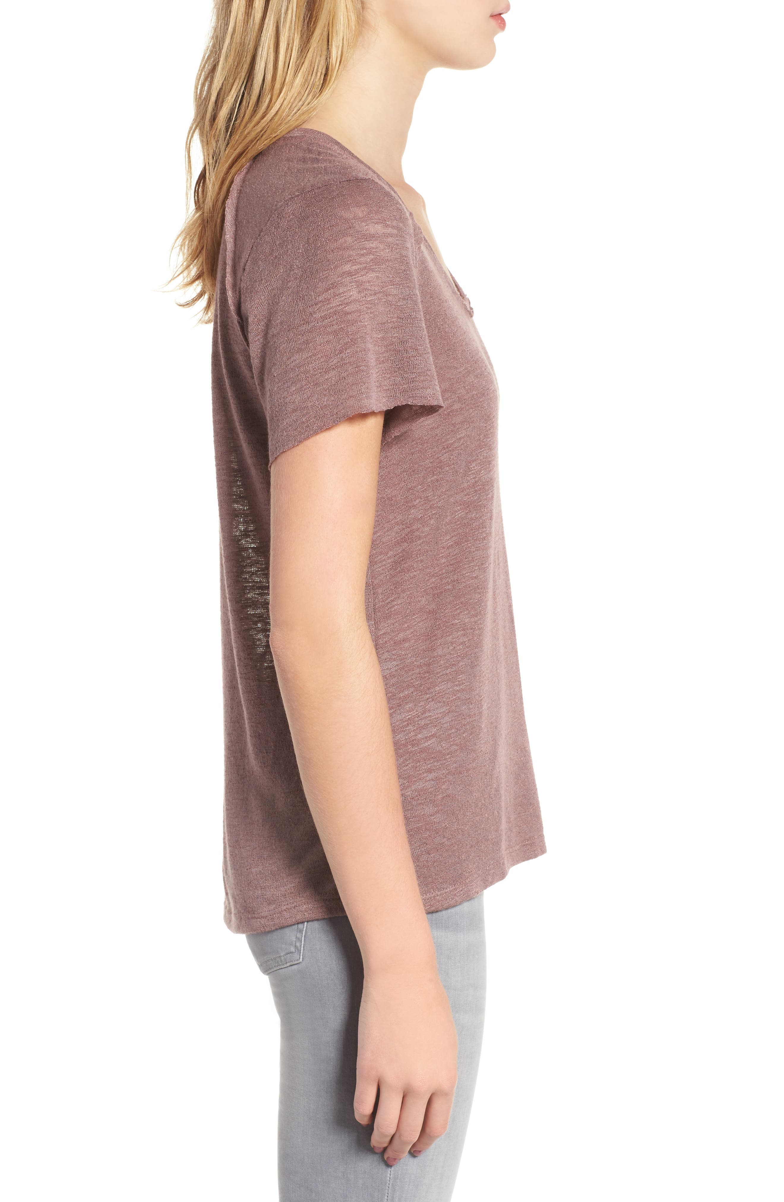 Slub Tee,                             Alternate thumbnail 3, color,                             Lavender
