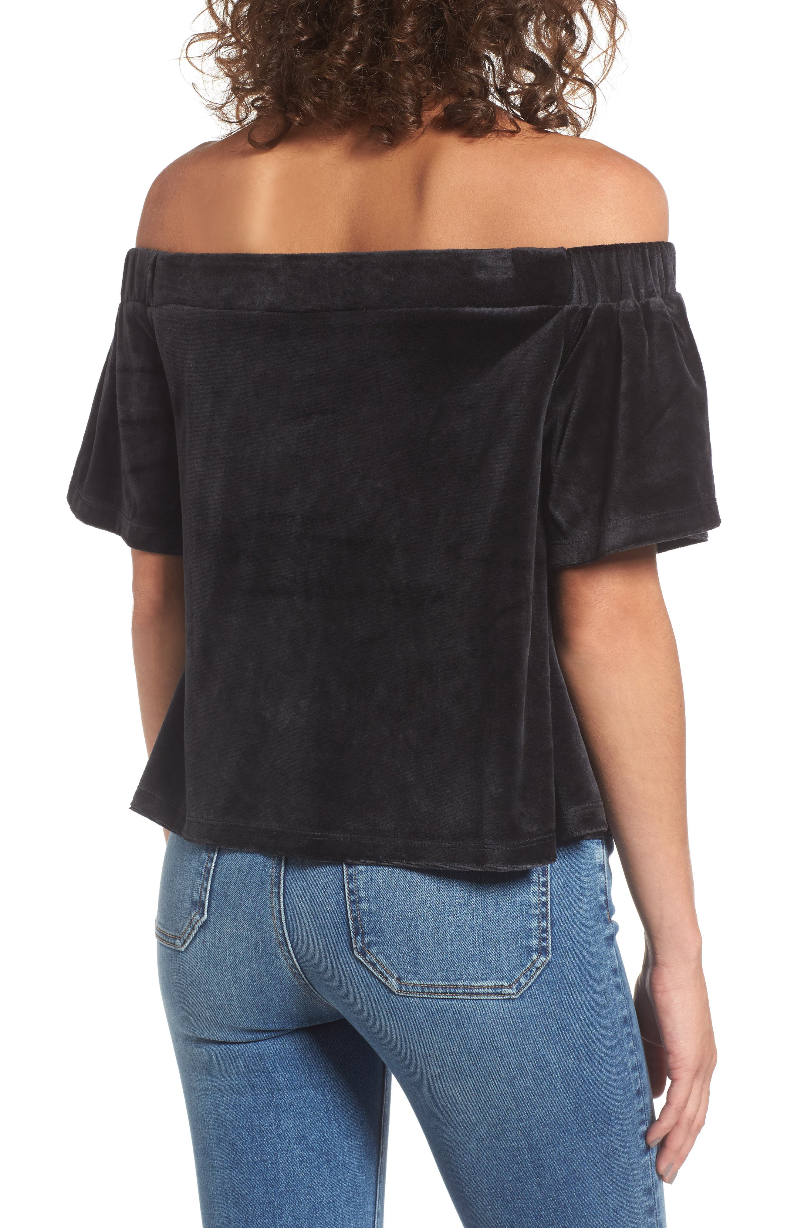 Alternate Image 2  - Juicy Couture Velour Off the Shoulder Top