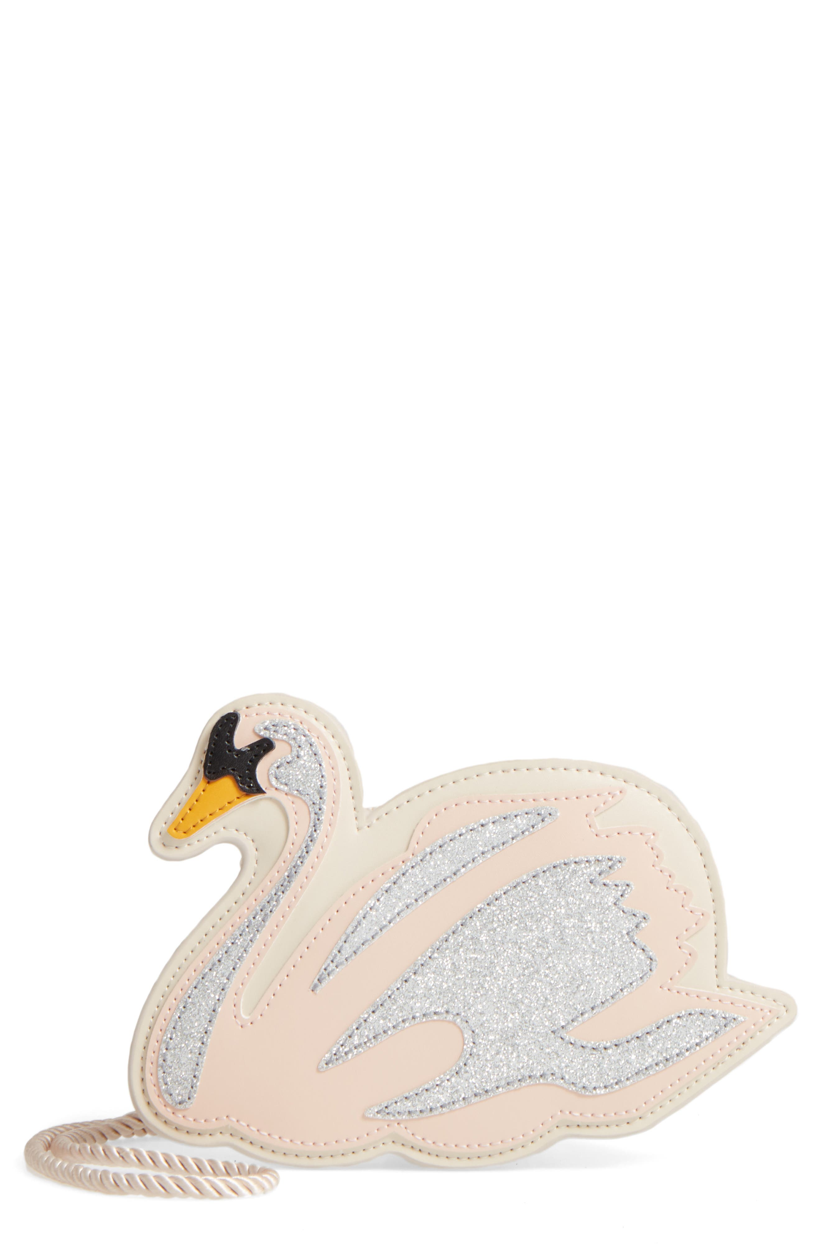 STELLA MCCARTNEY Kids Swan Glitter Bag