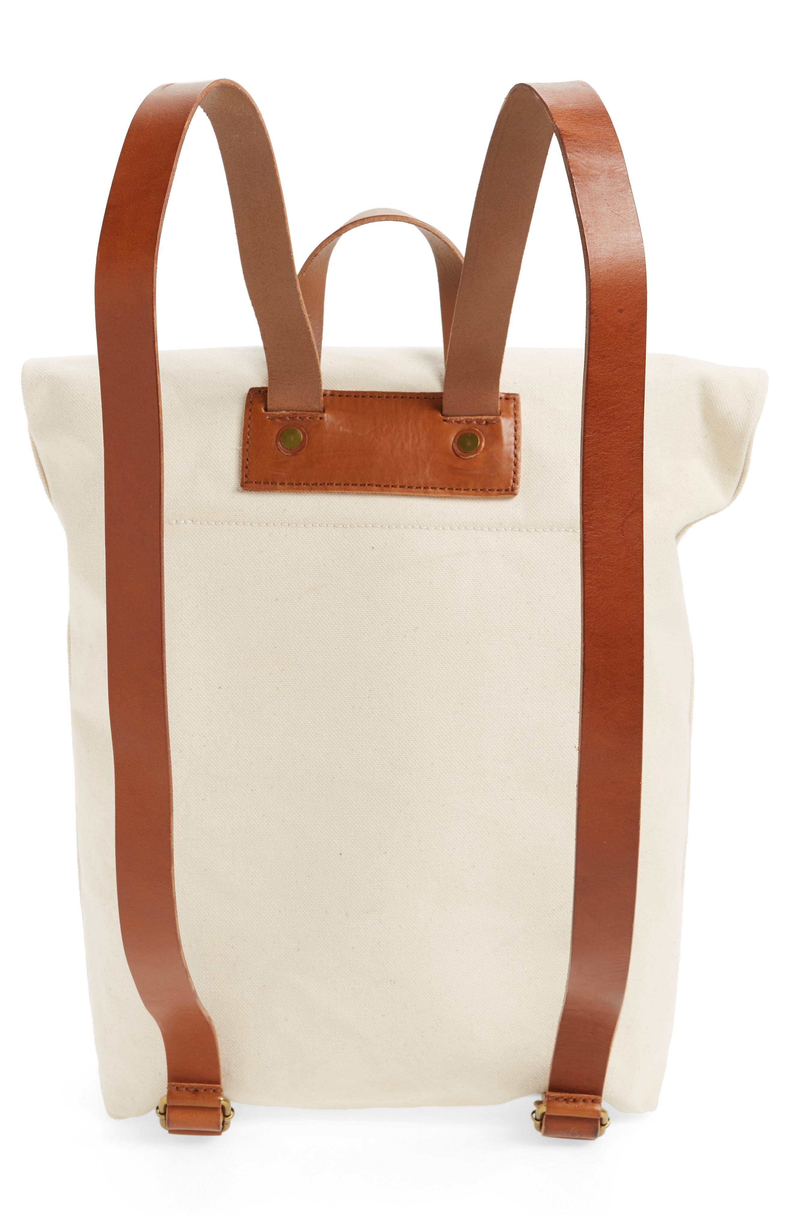 The Canvas Foldover Backpack,                             Alternate thumbnail 3, color,                             Vintage Canvas