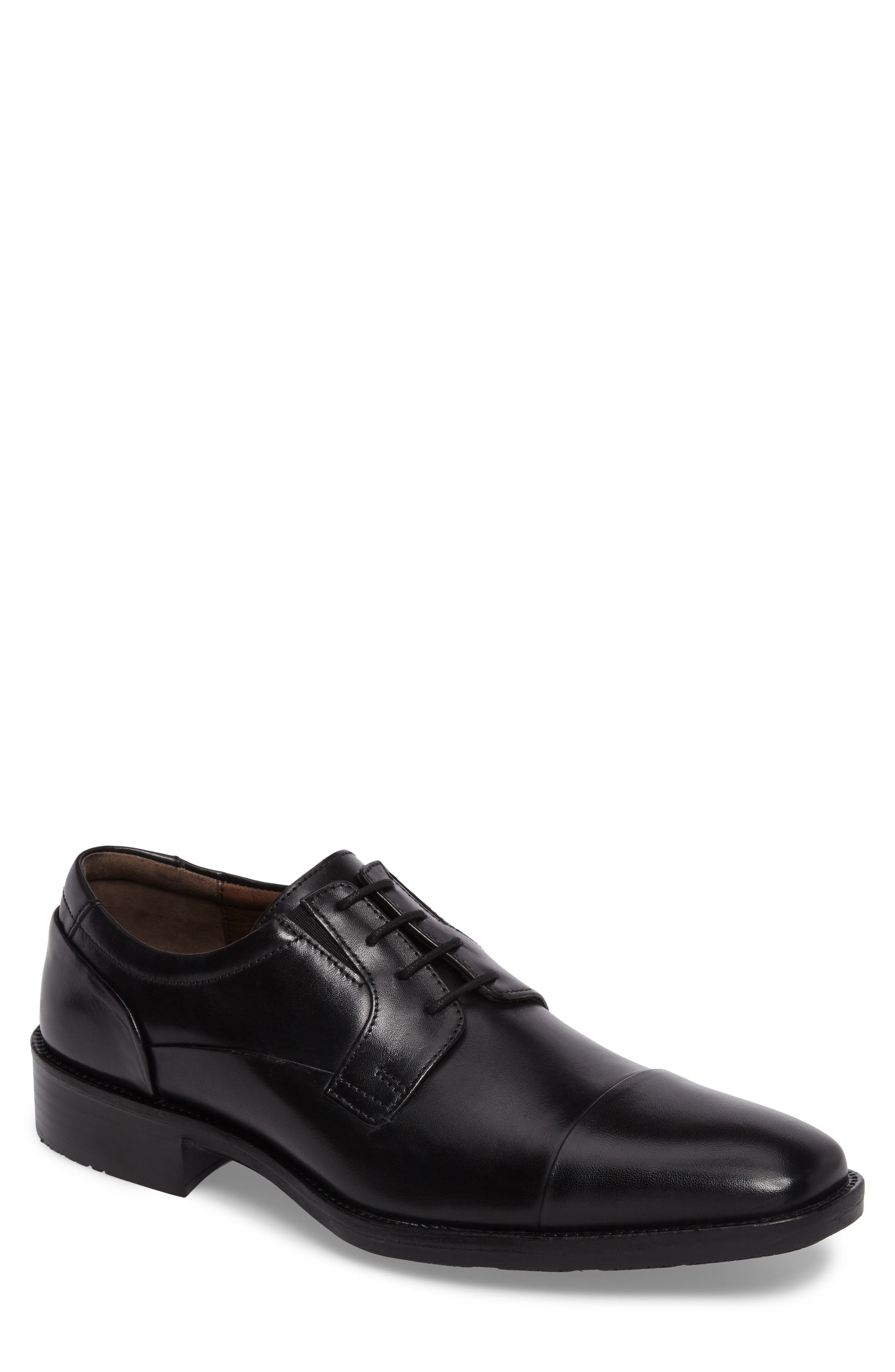 Lancaster Cap Toe Derby,                             Main thumbnail 1, color,                             Black