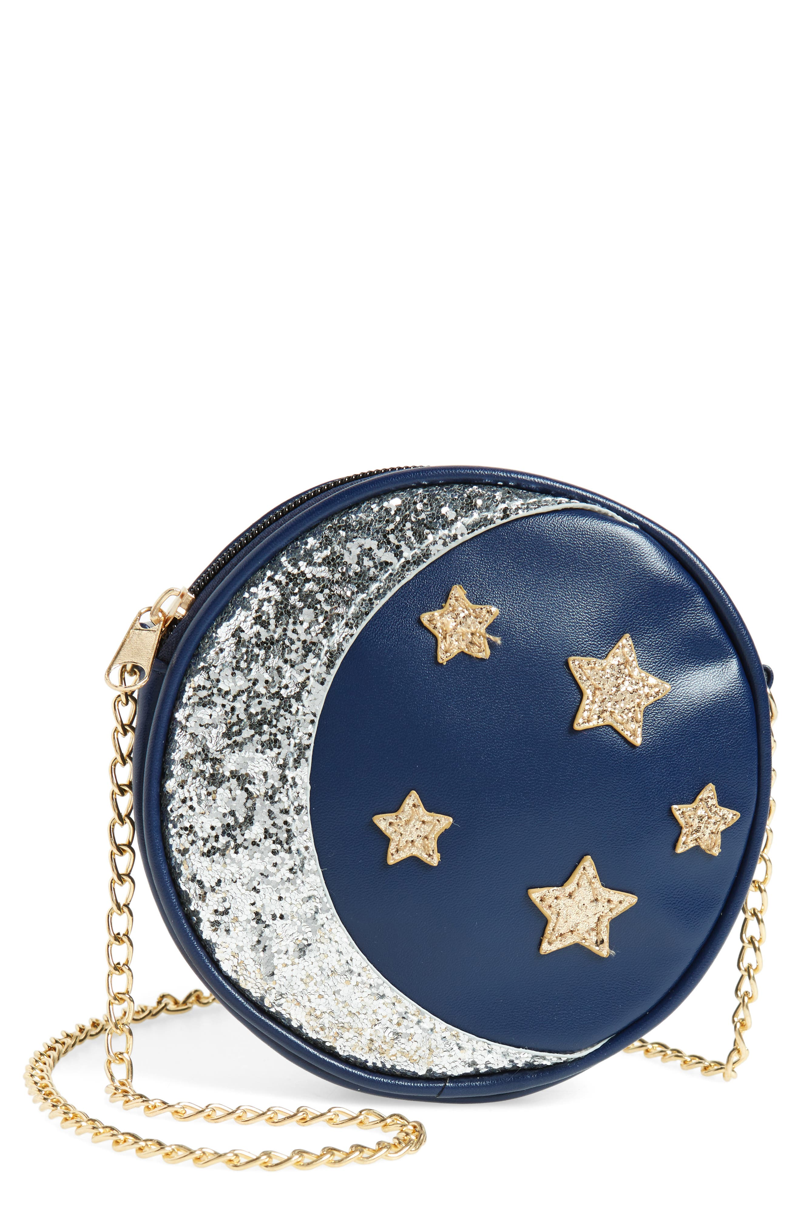 CAPELLI OF NEW YORK Sequin Stars & Moon Bag