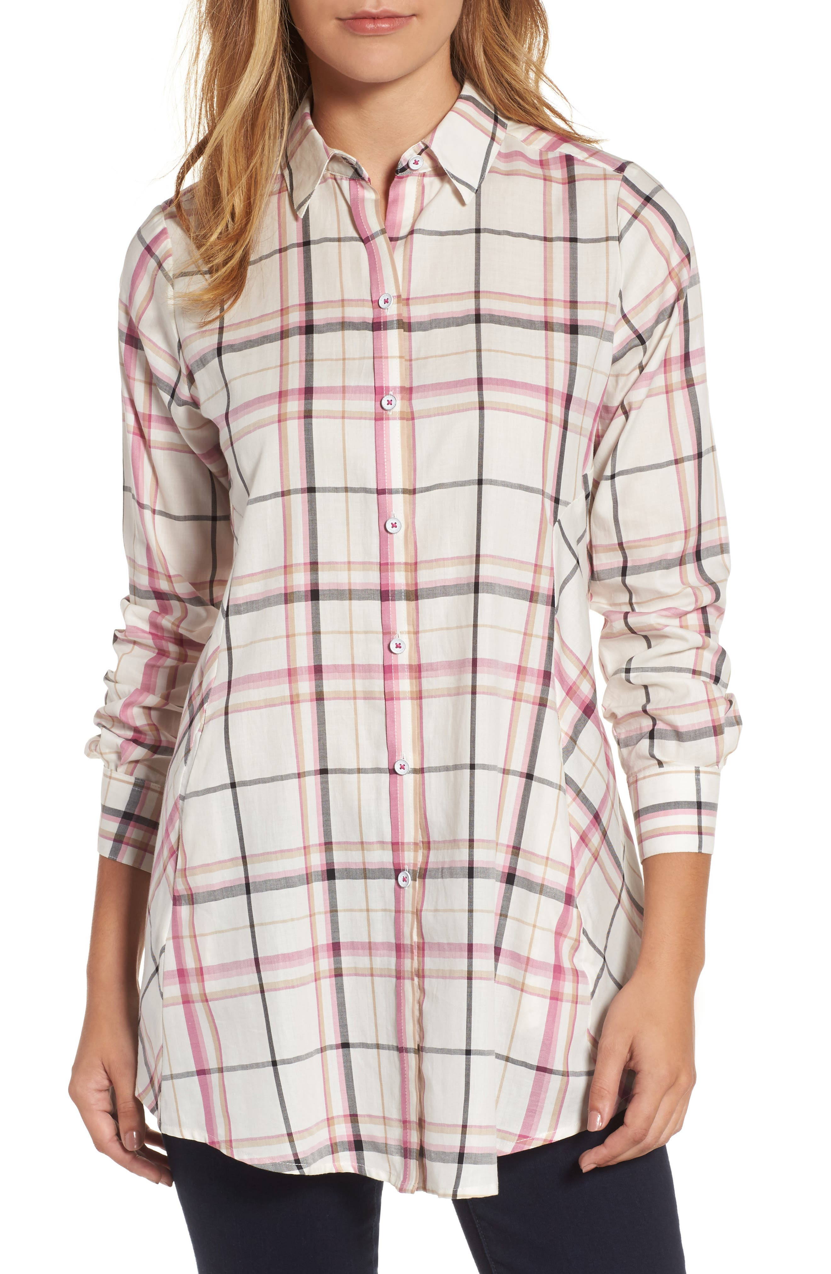 Alternate Image 1 Selected - Foxcroft Cici Plaid Shirt
